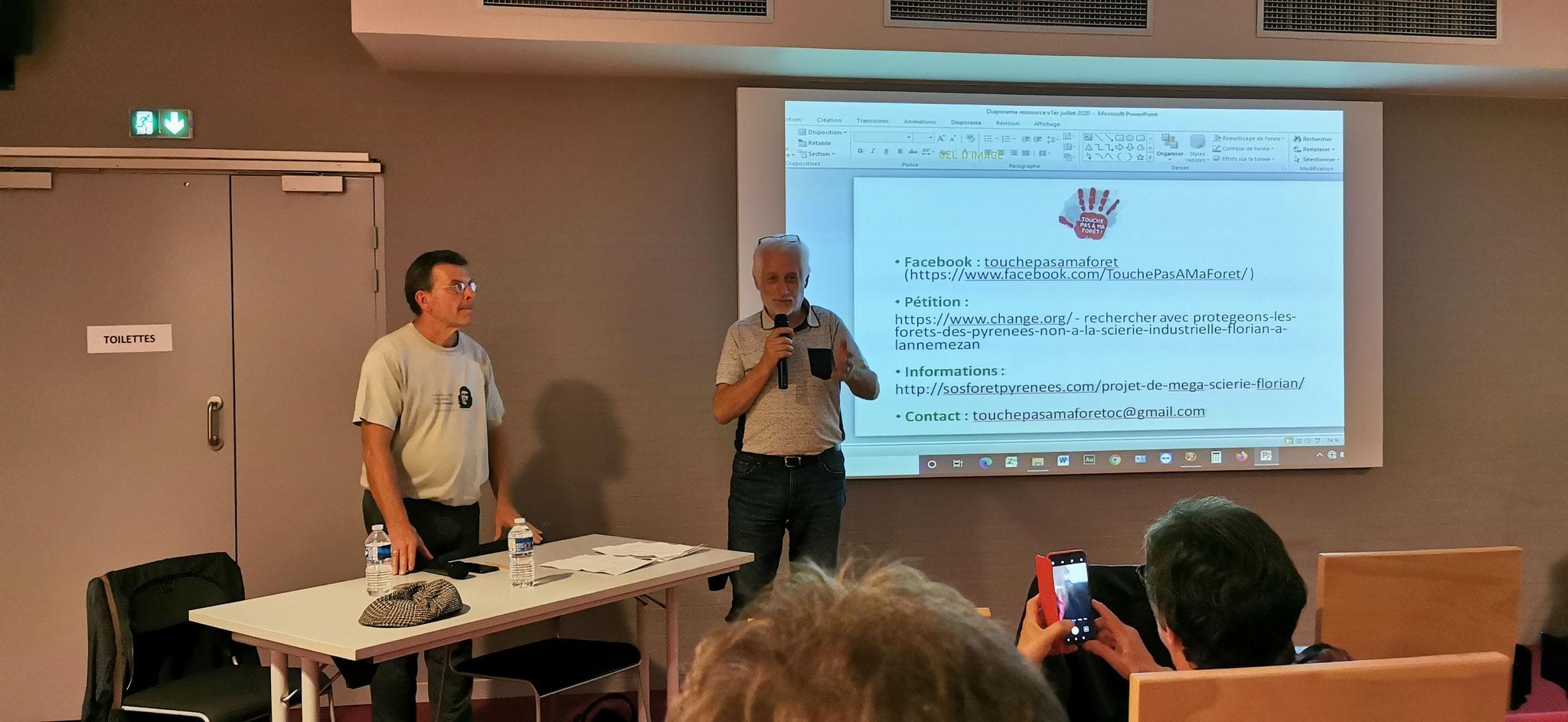Jean Claude Dutter de l'ACCOB pour la défense de la forêt du Bager et des forêts de la chaîne des Pyrénées avec le collectif SOS Forêt Pyrénées
