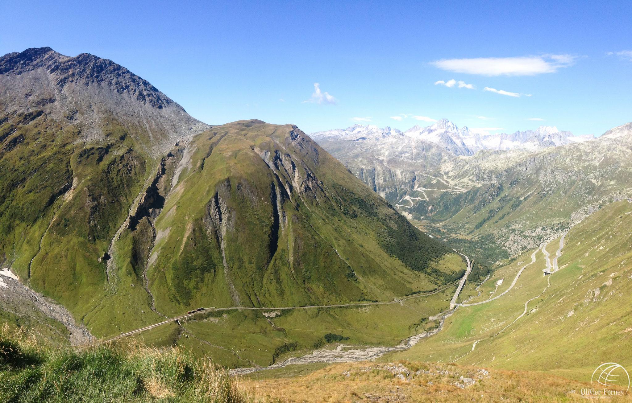 Vue du col de la Furka / Valais