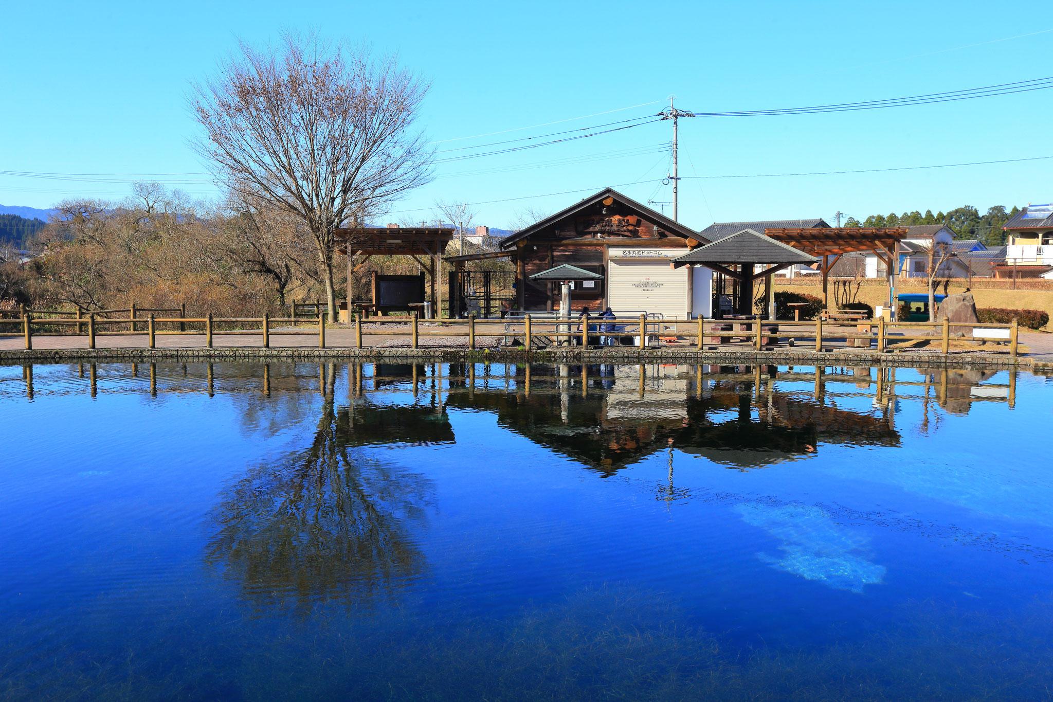 綺麗な池が有名の丸池公園(姶良郡湧水町)