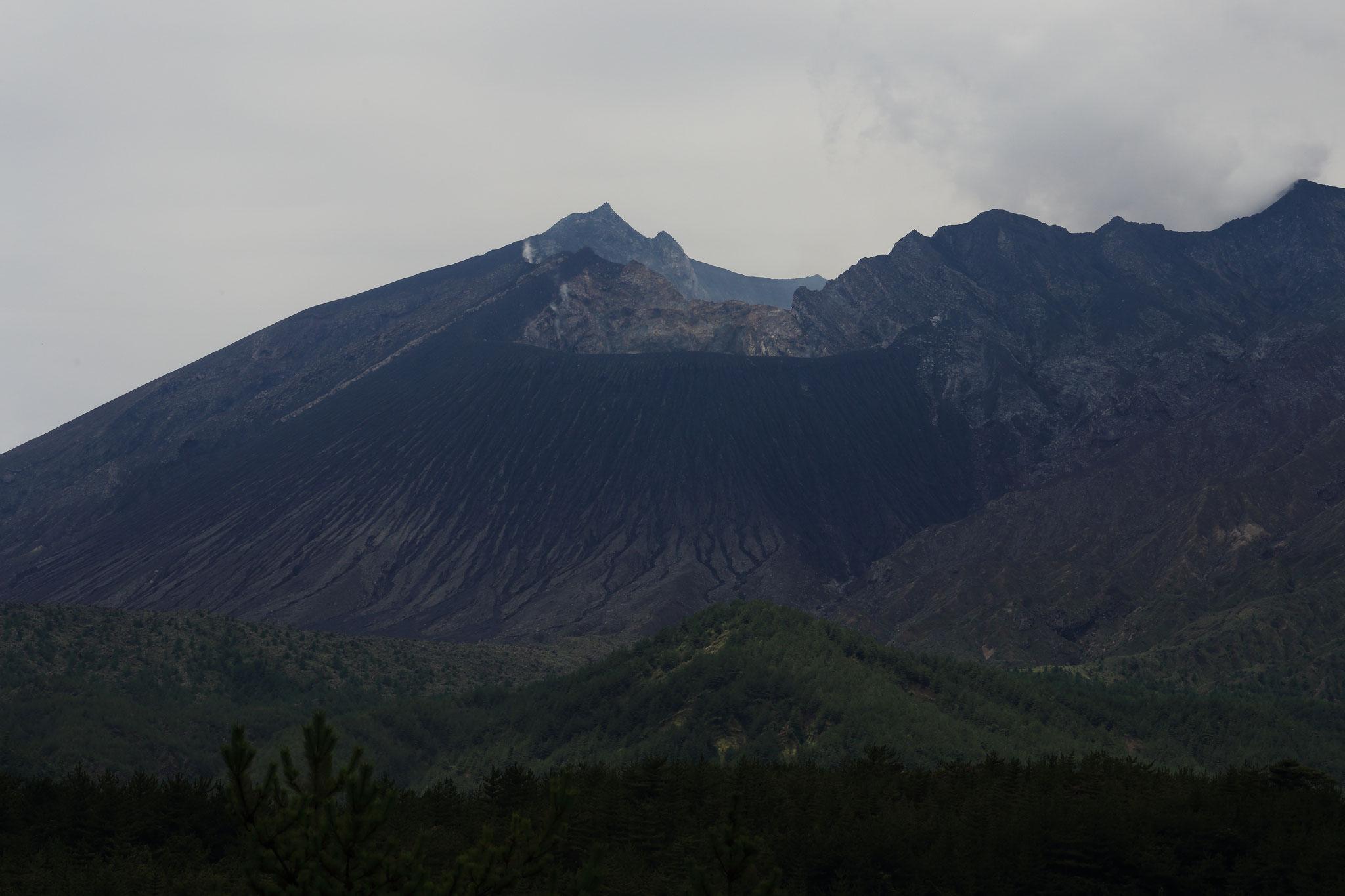 最近噴火しない桜島(7/18 黒神橋)