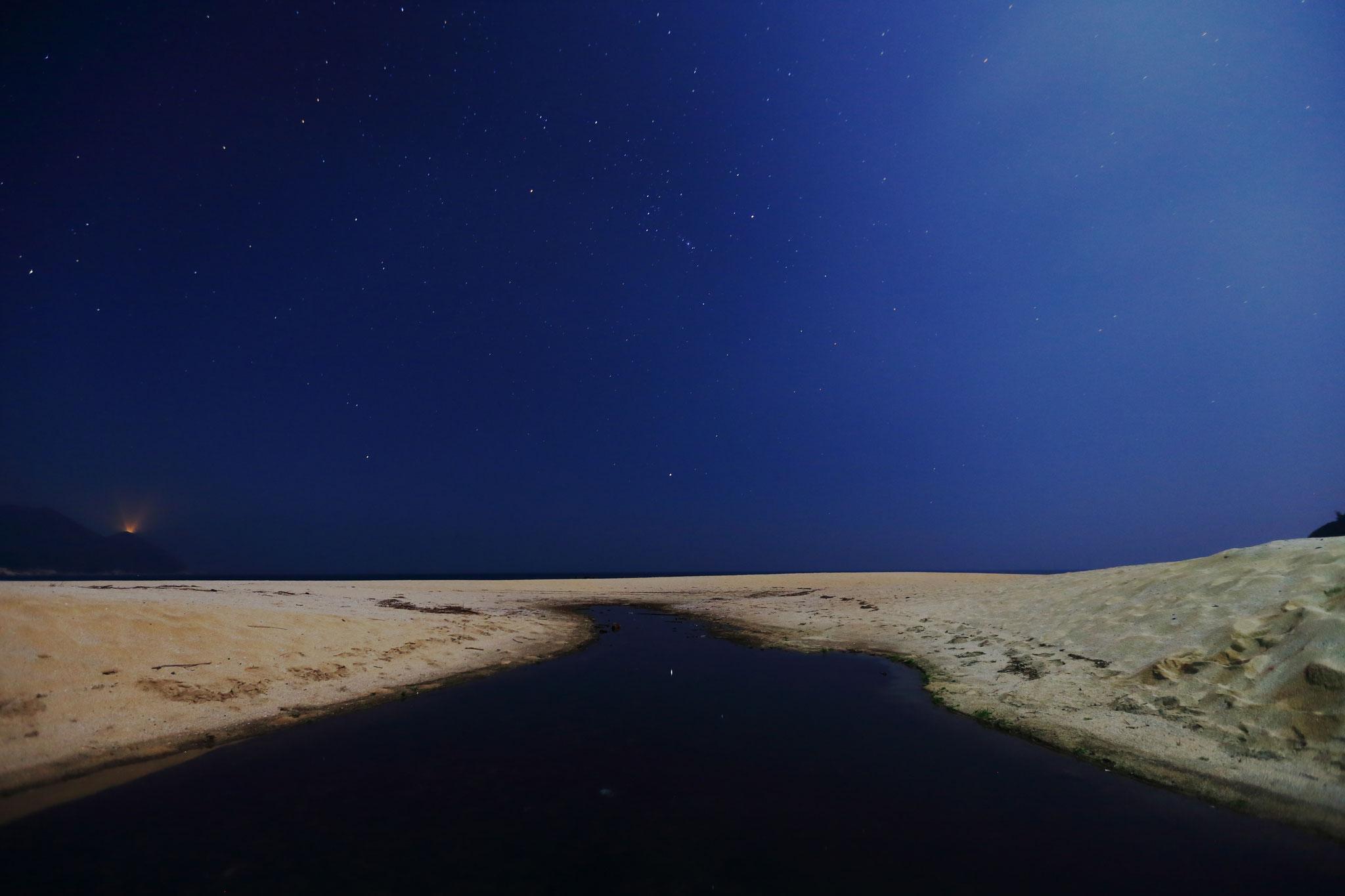 砂漠の星空(岸良海岸)