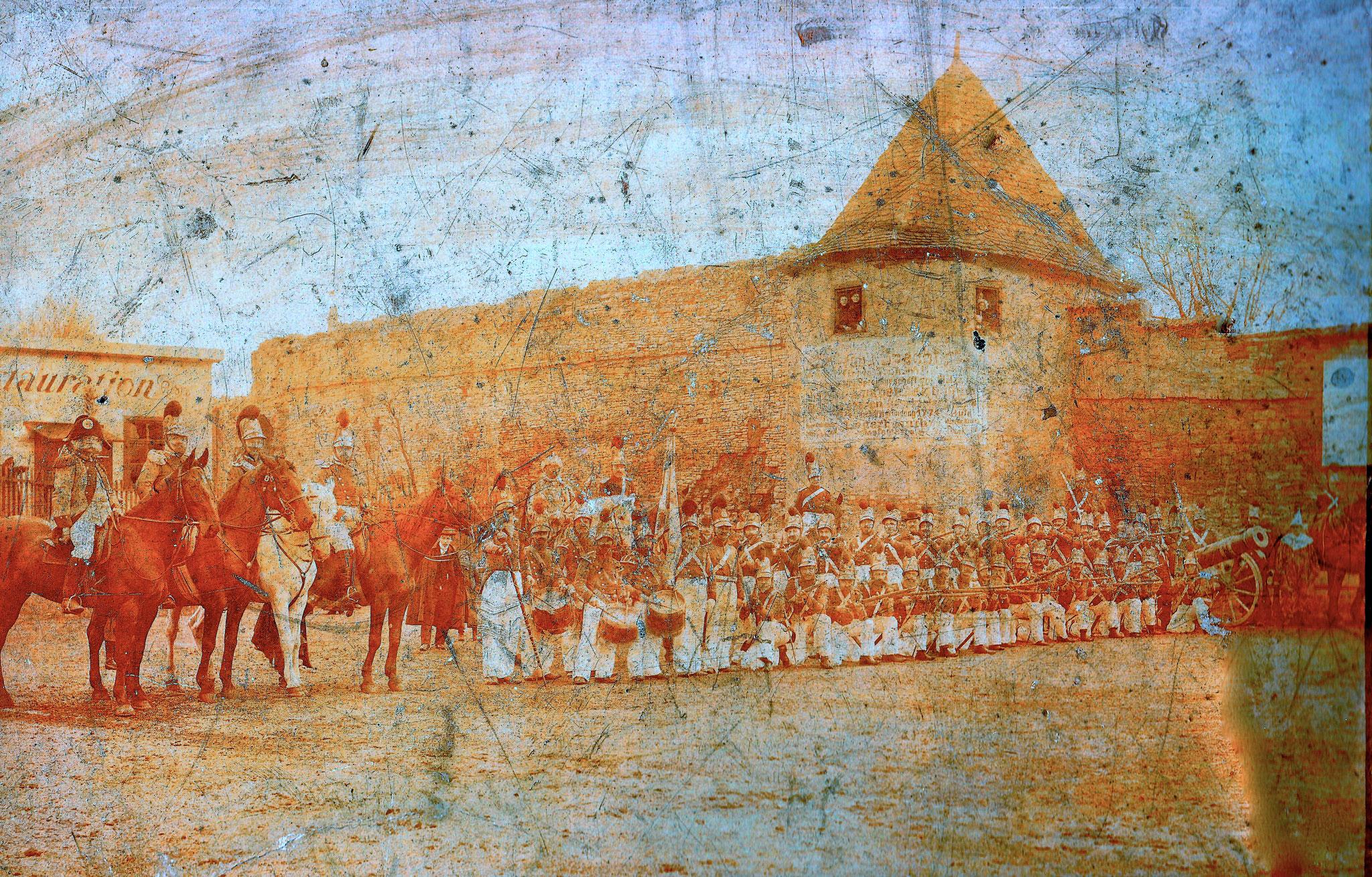 Maskerade Anfang des 20. Jahrhunderts am Höpperlesturm