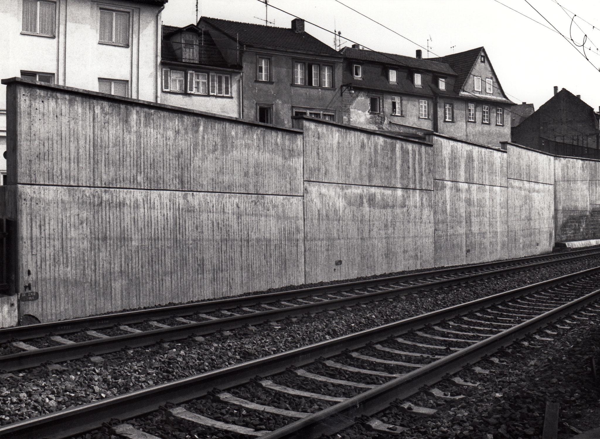 Stützmauer der Bahnführung am Rusterberg