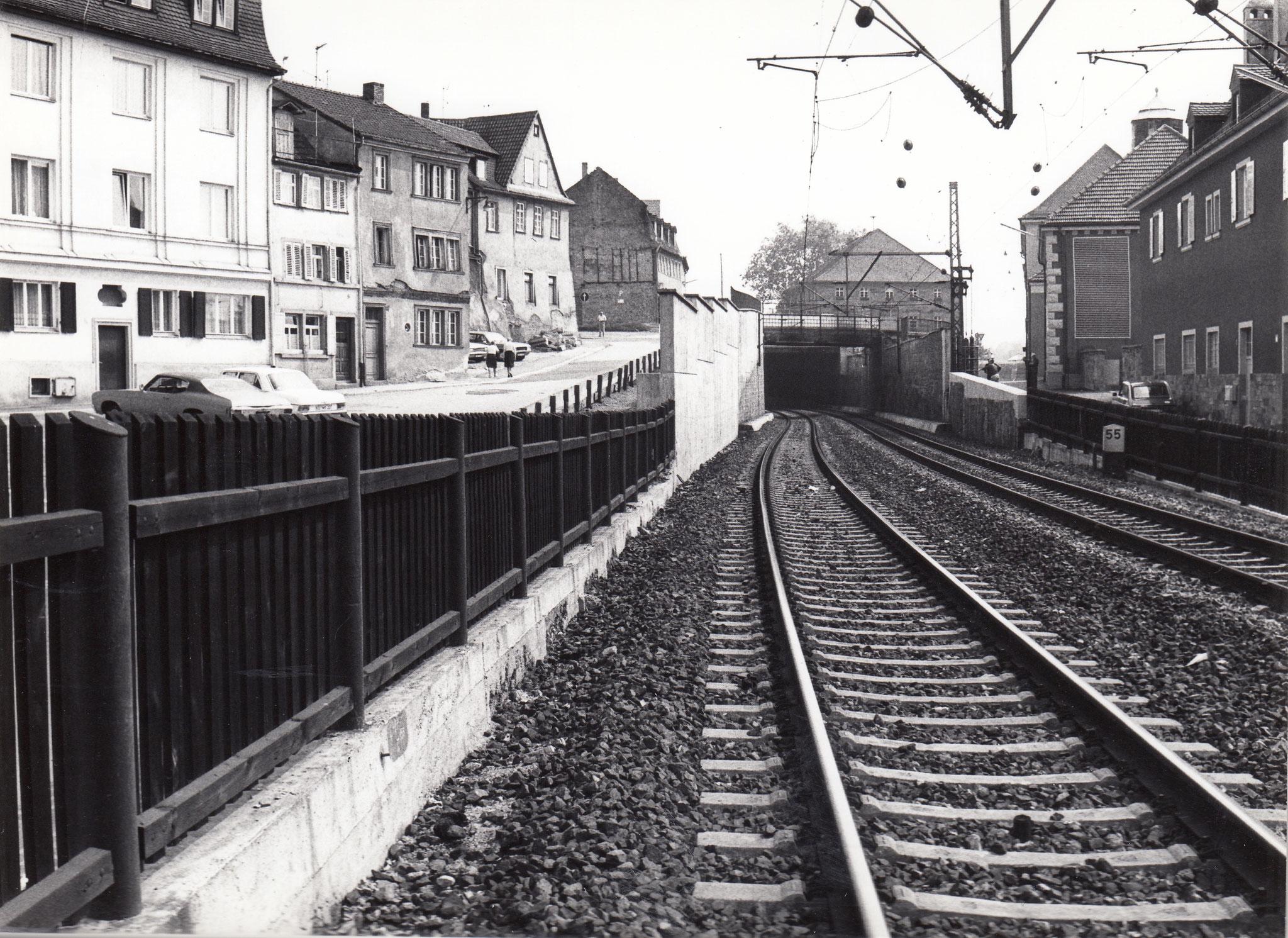 Bahngleise zwischen Petersgasse und Brückenstraße 38-42