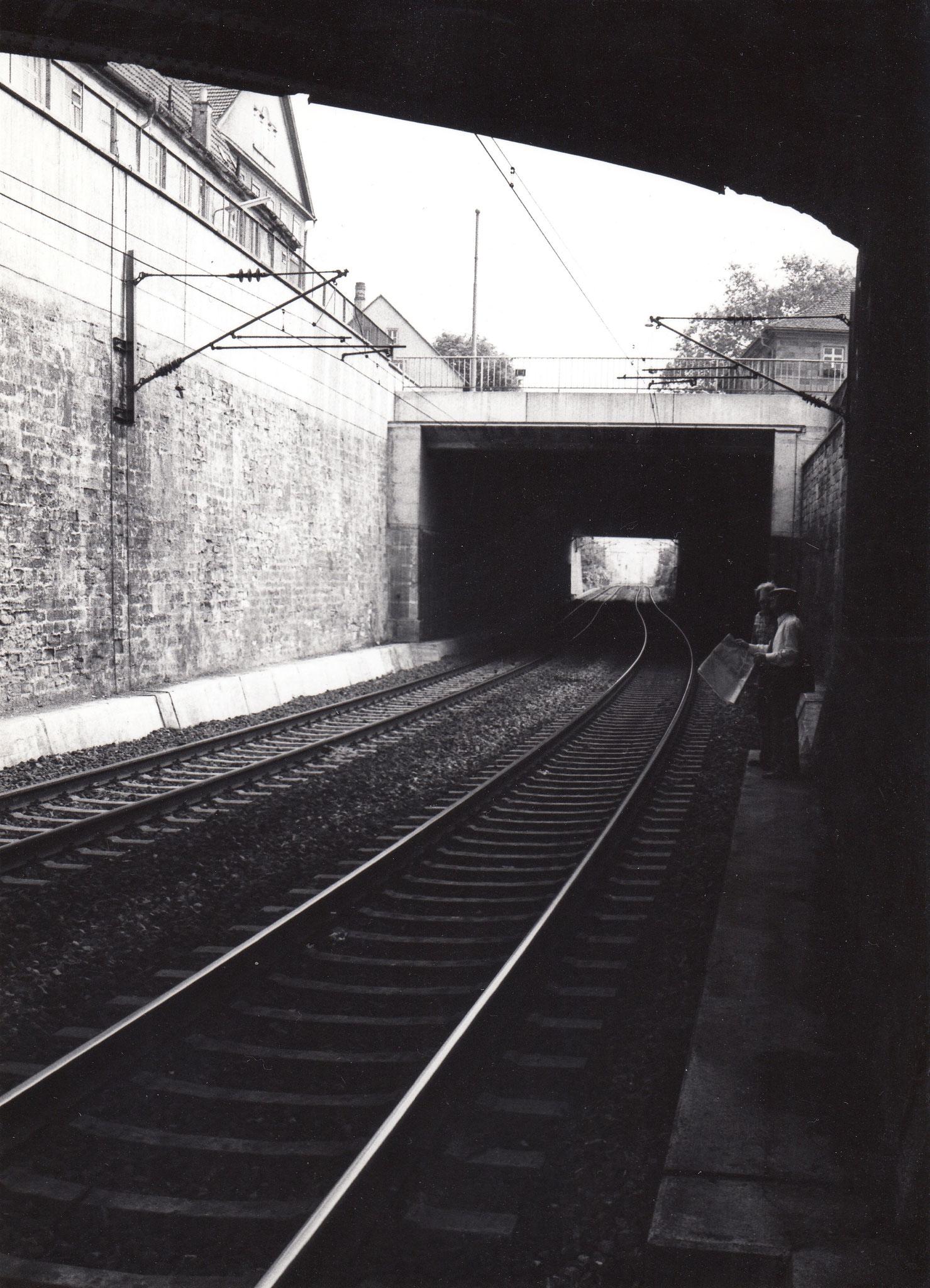 Bahngleise unter Brückenstraße