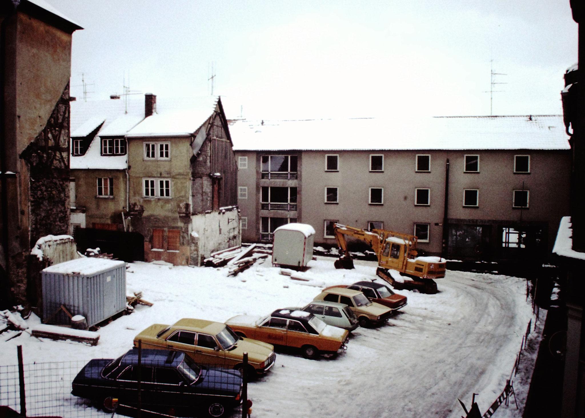 Januar 1981 Baustelle Petersgasse