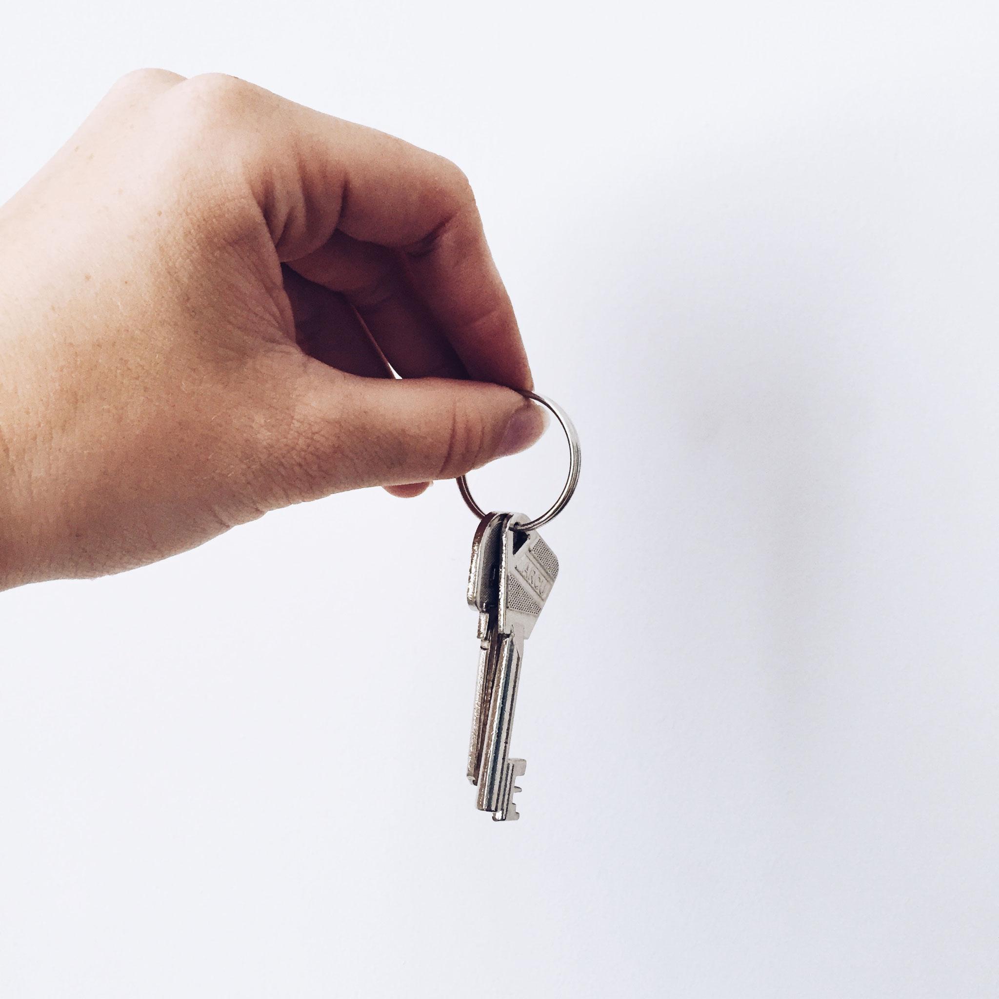 Ontvangst van de sleutels van ons appartementje!