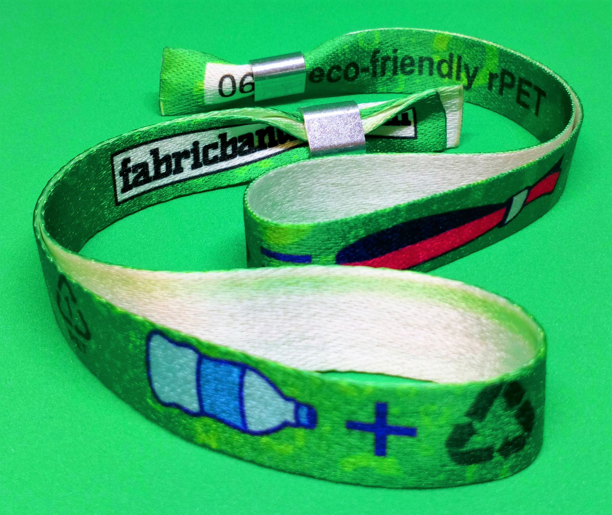 Ask about our eco-friendly wristbands!