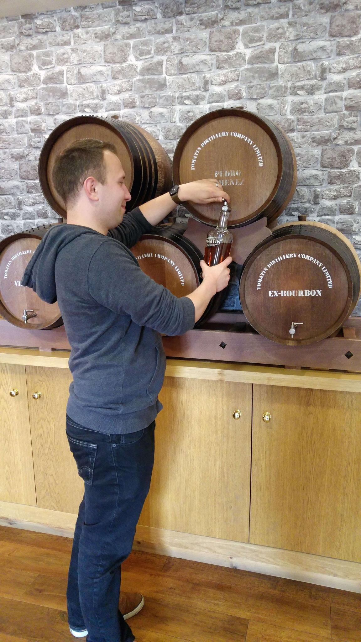 Die Abfüllung des heutigen Whisky!