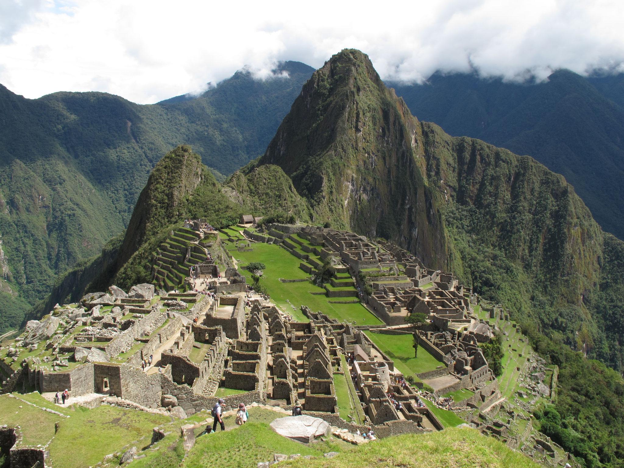 Peru - Blick am Ende des Inka Trails