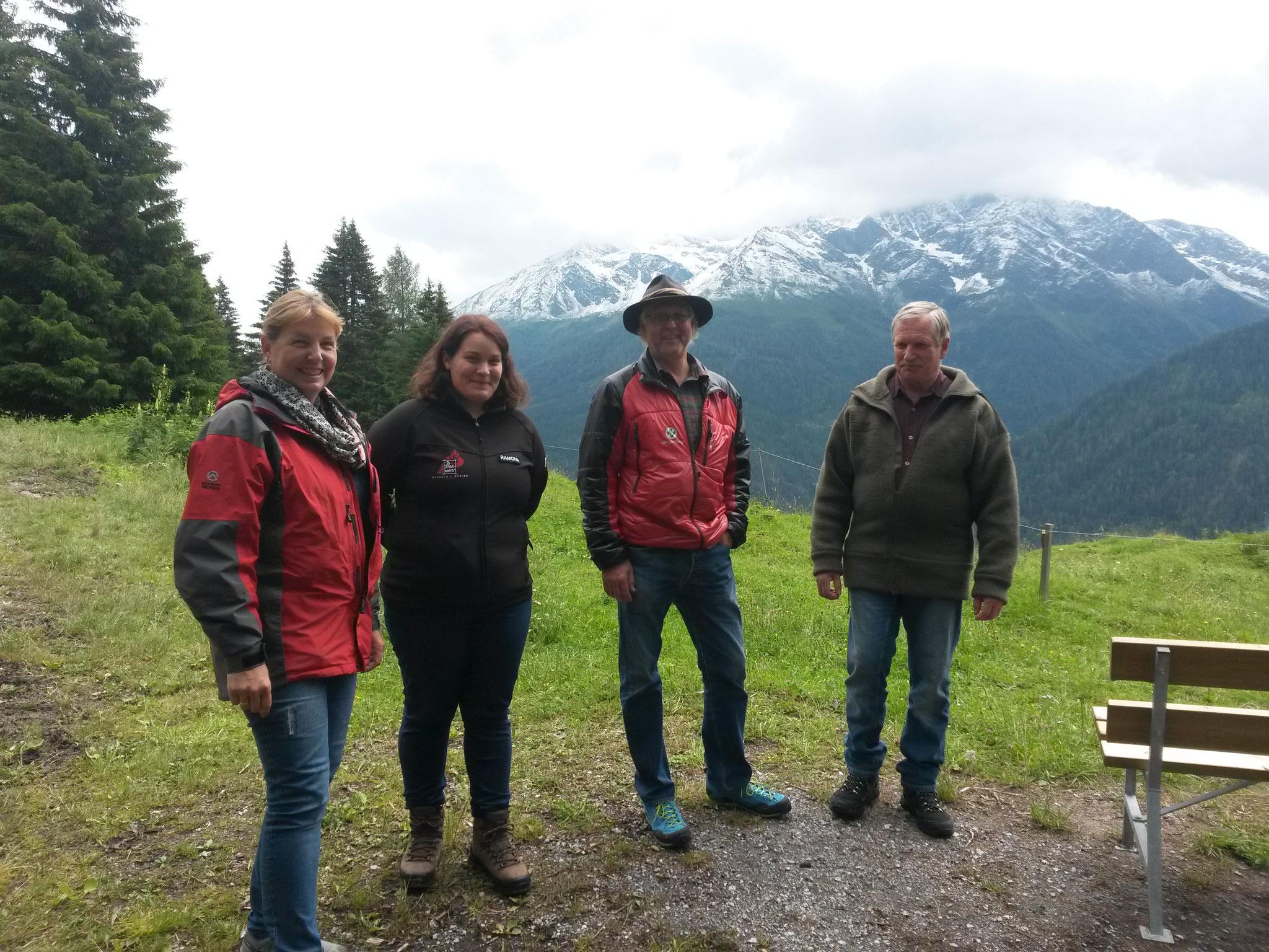 mit Gabi, Ramona, Thomas und Heinz
