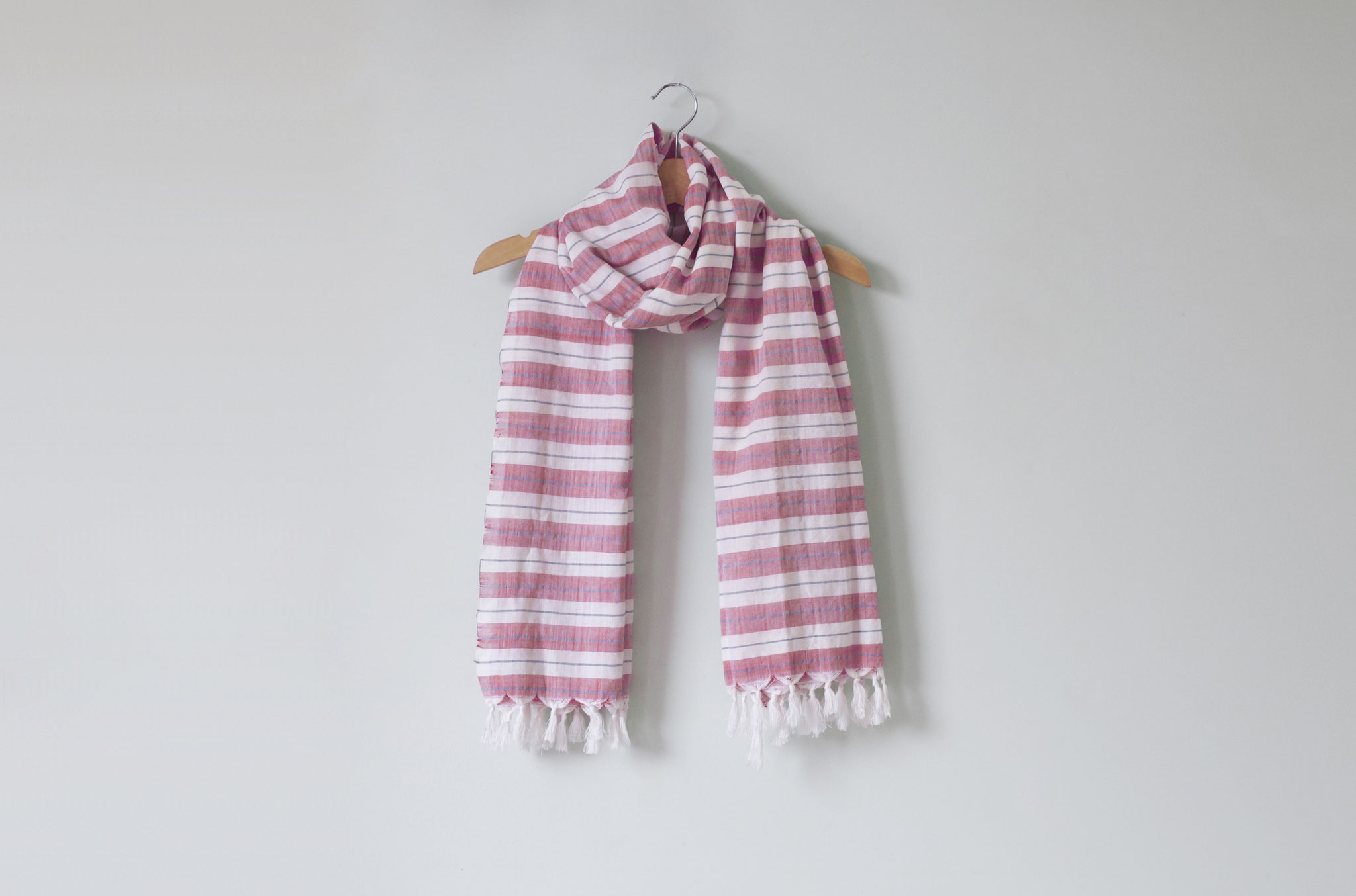 カンボジア雑貨 -手織りのコットンスカーフ
