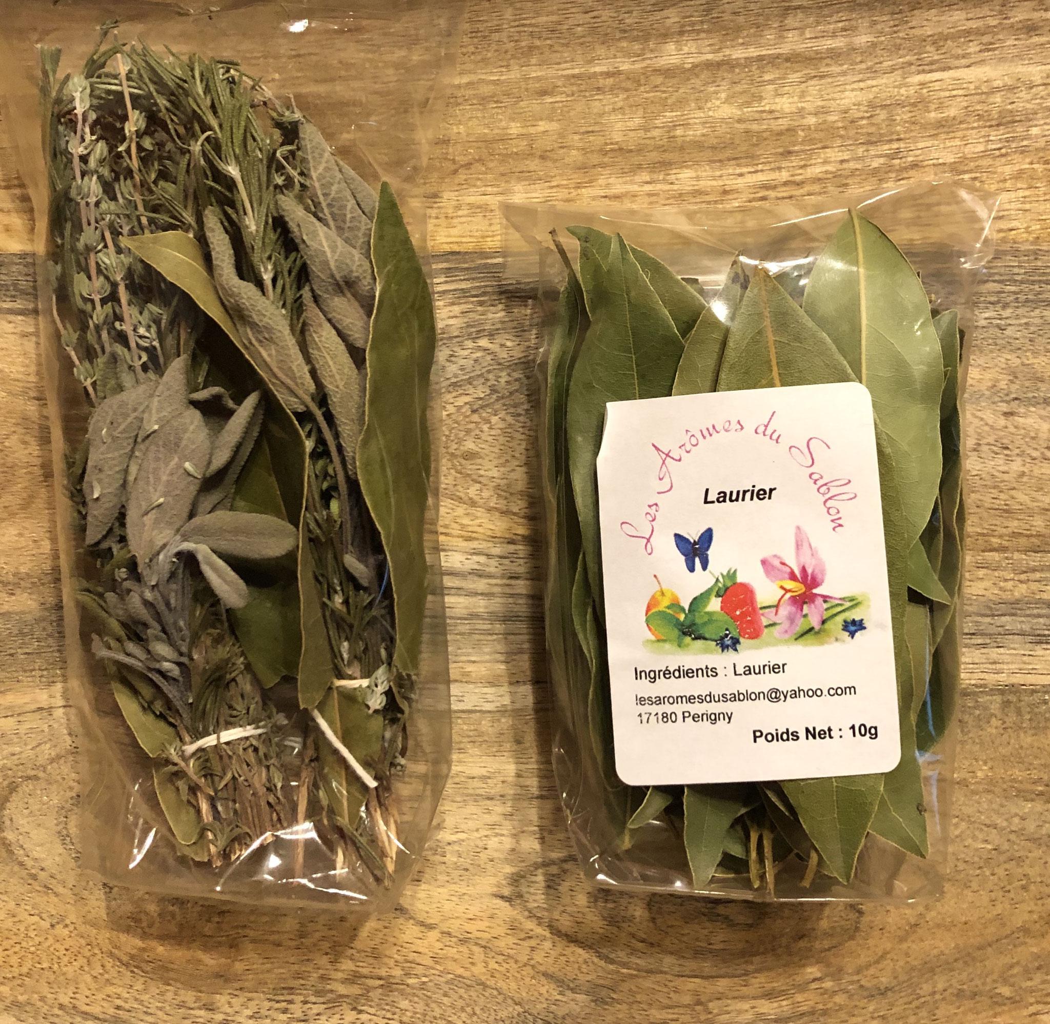 Sachets de Laurier et de Bouquet garni sec