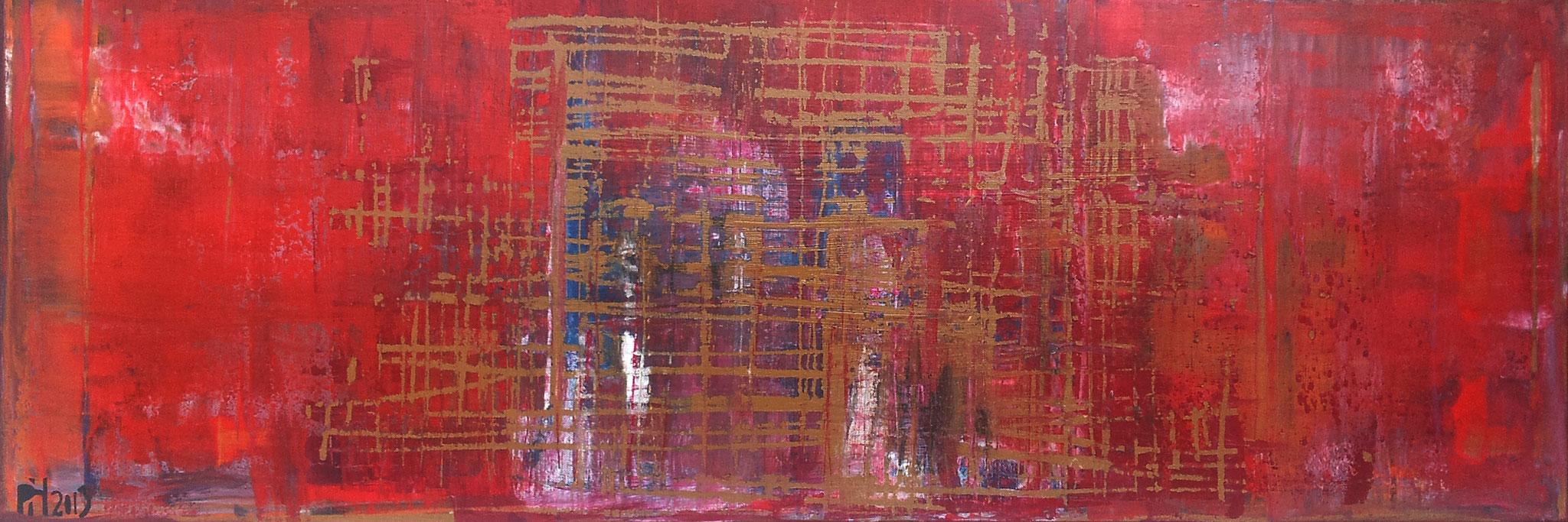 No. 49 - Mischtechnik Acryl auf Leinwand 120x40 cm (2013)