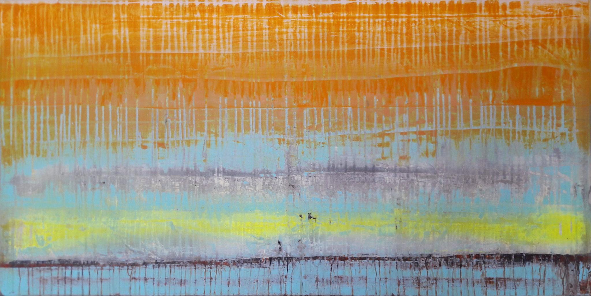 No. 127 Mischtechnik Acryl auf Leinwand 50x120 cm (2018)