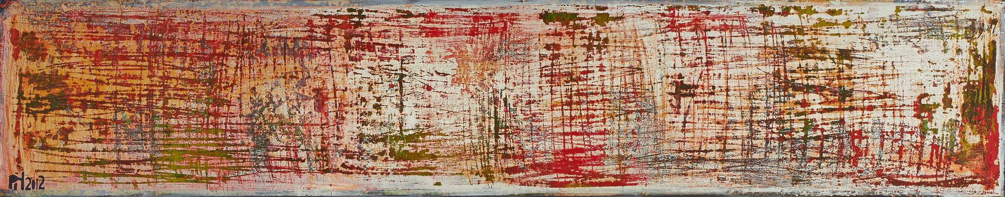 No. 23 - Mischtechnik Acryl auf Leinwand 150x30 cm (2012)
