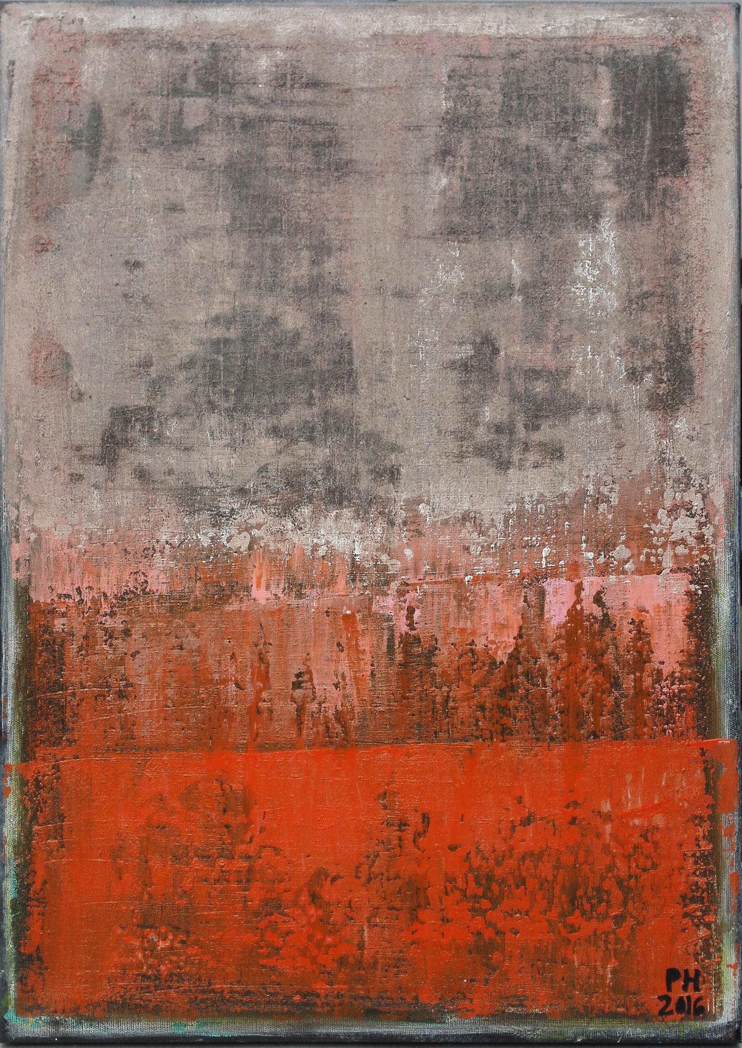 No. 73 - Mischtechnik Acryl auf Leinwand 50x70 cm (2016)