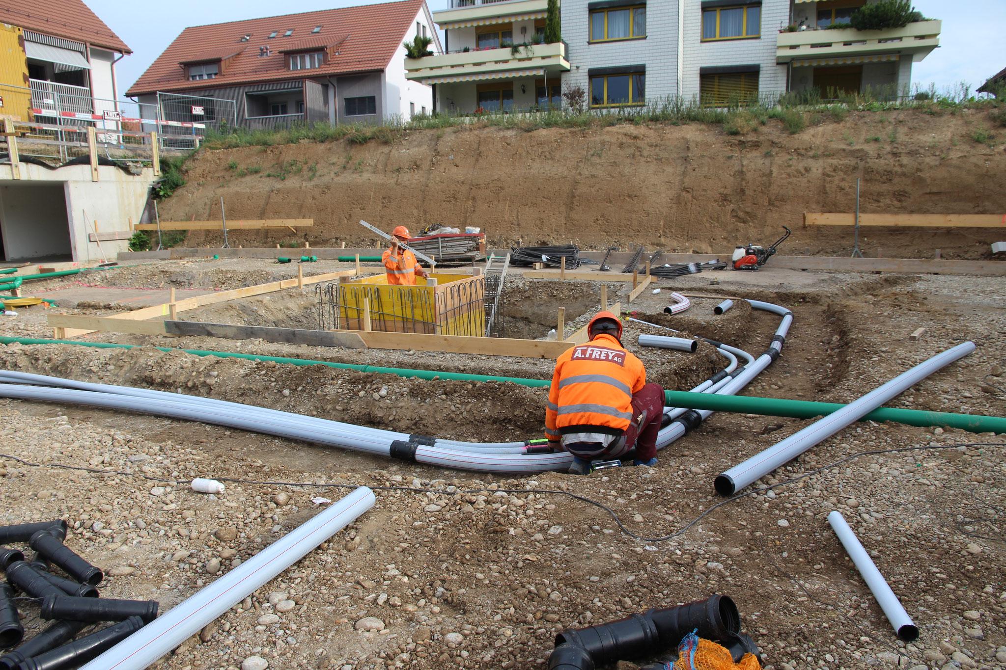 Kanalisationsarbeiten - Werkleitungen