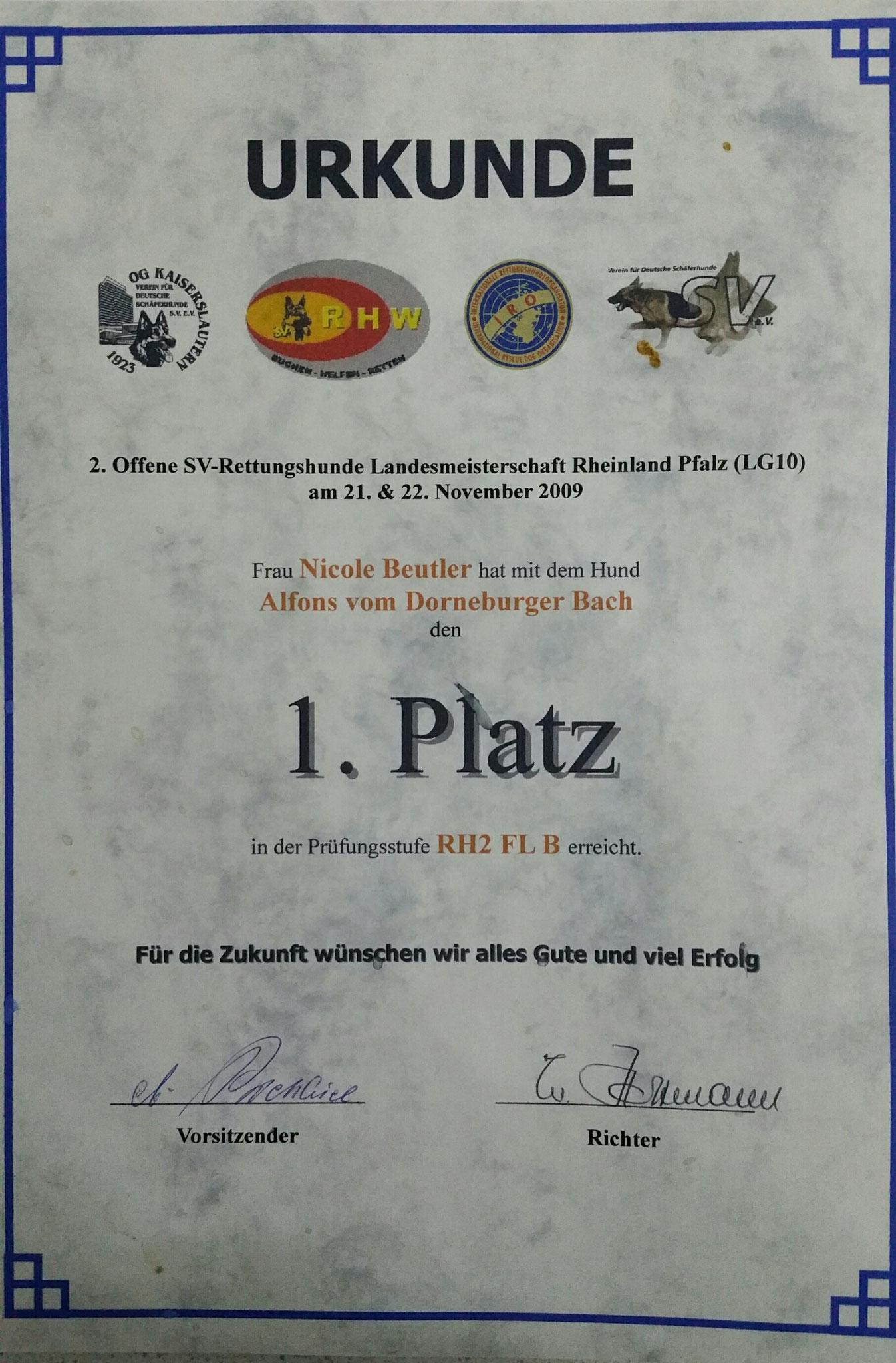Landesmeister 2009 Fläche Rheinland-Pfalz