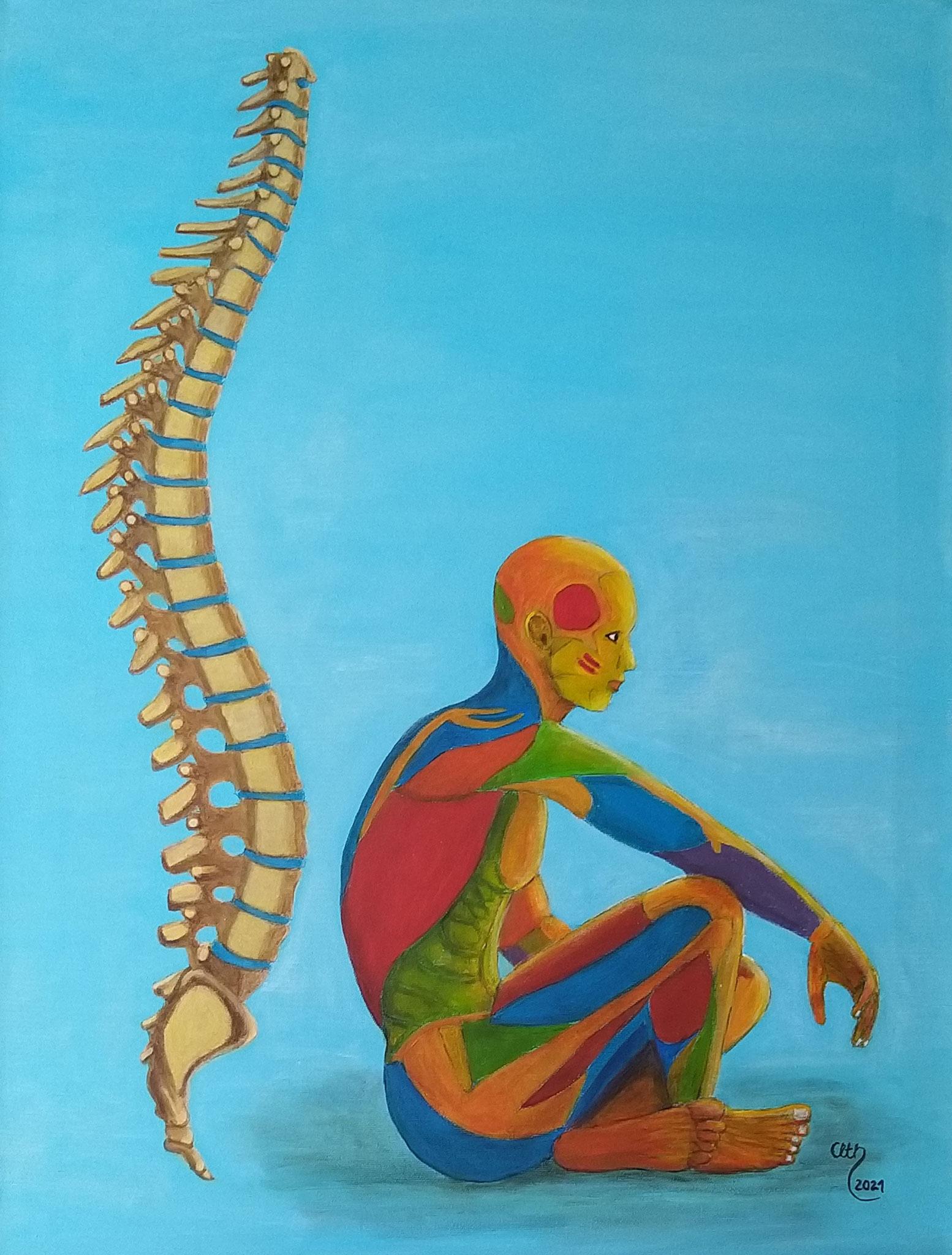 Beweglichkeit, 60 x 80 cm, Acryl auf Leinwand, 2021