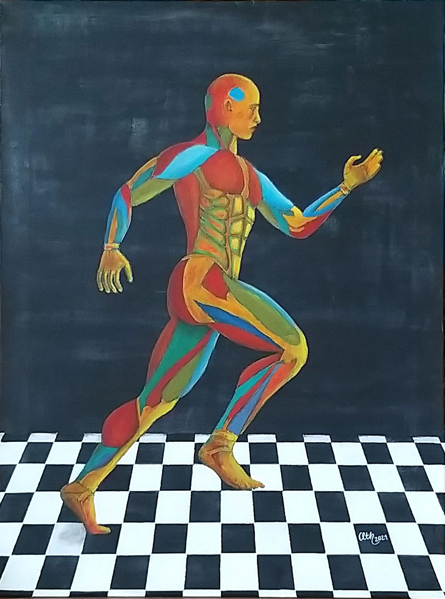 Bewegung, 60 x 80 cm, Acryl auf Leinwand, 2021