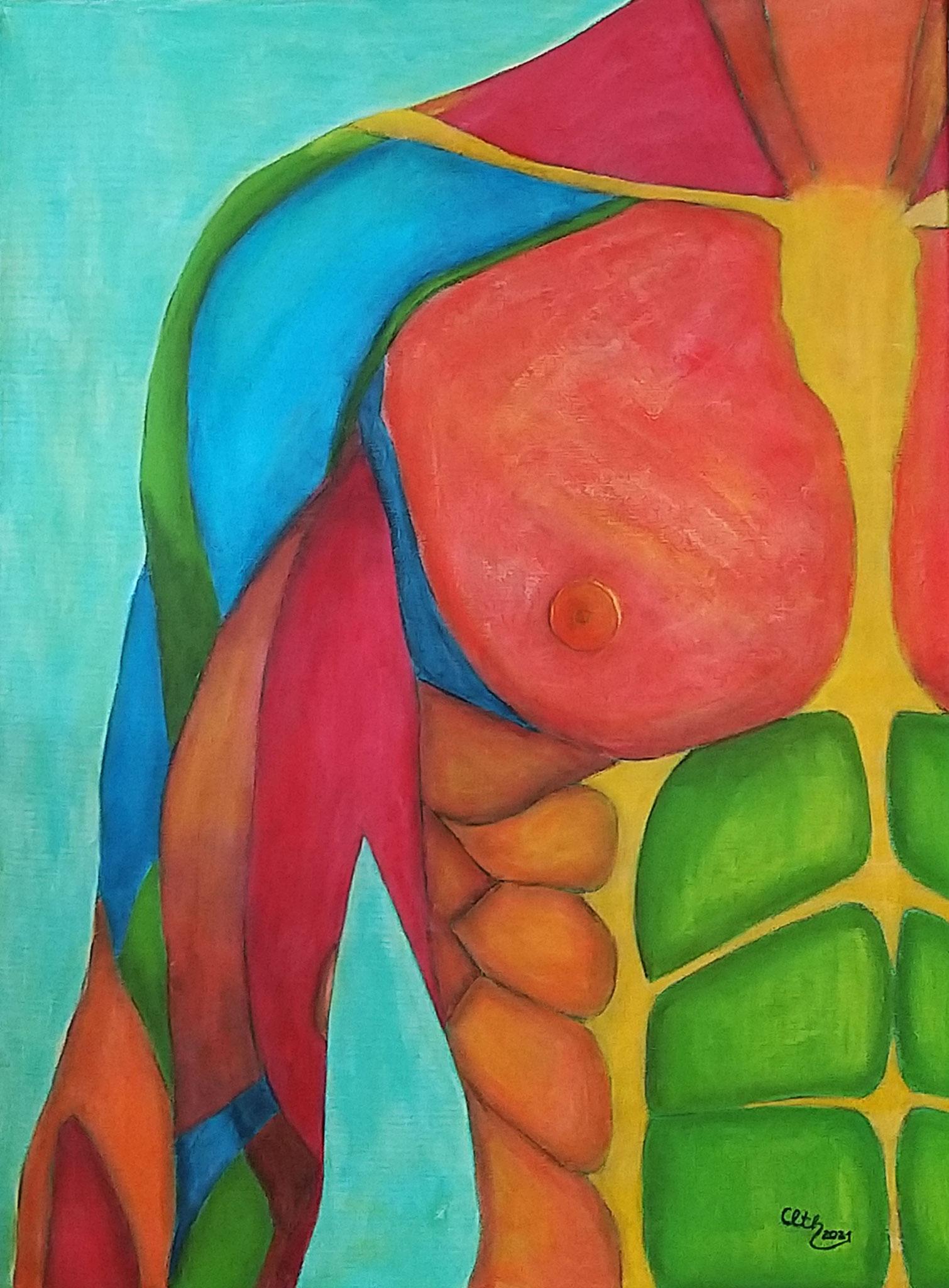 Kraft, 60 x 80 cm, Acryl auf Leinwand, 2021