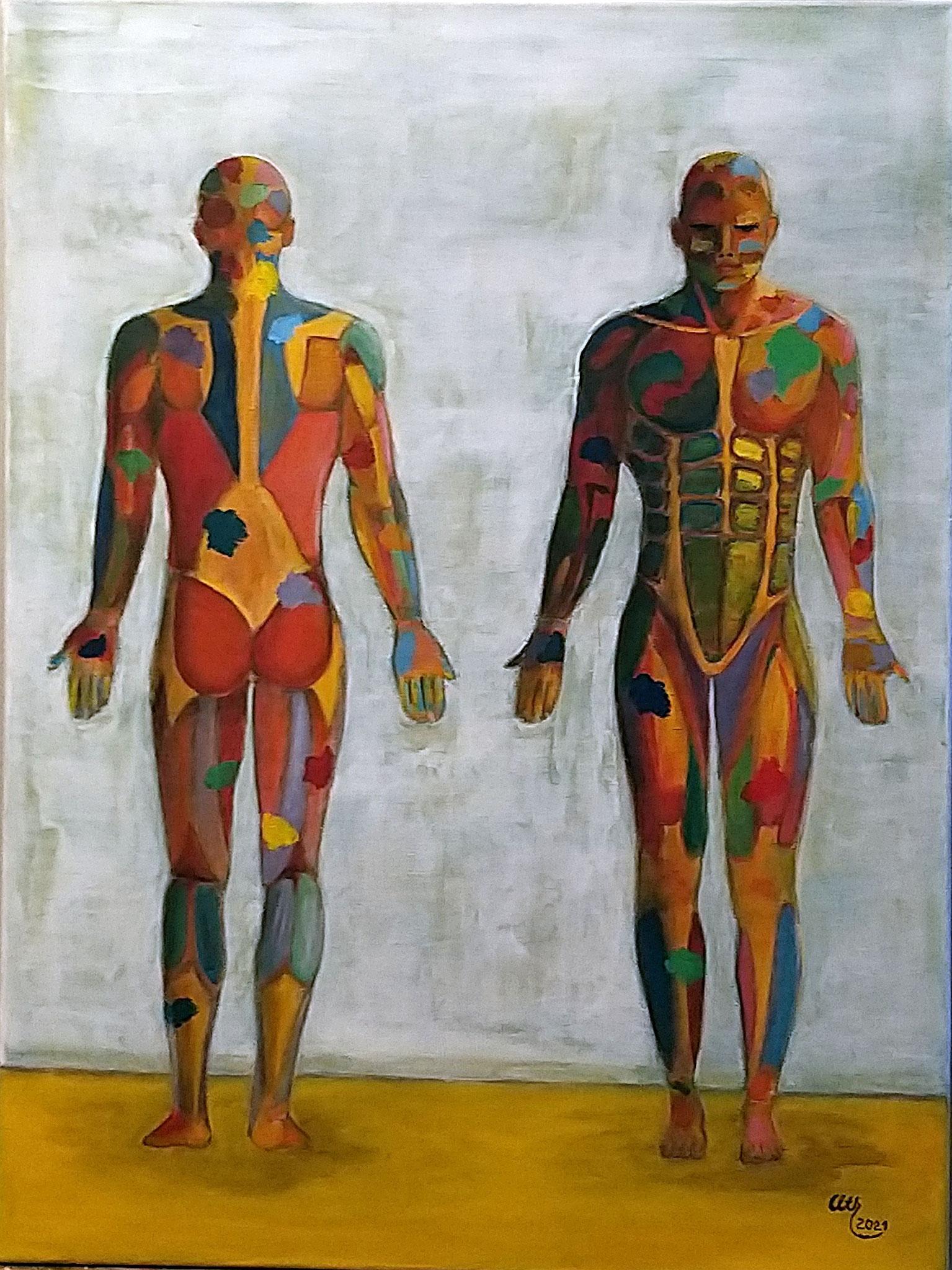 Anatomie, 60 x 80 cm, Acryl auf Leinwand, 2021