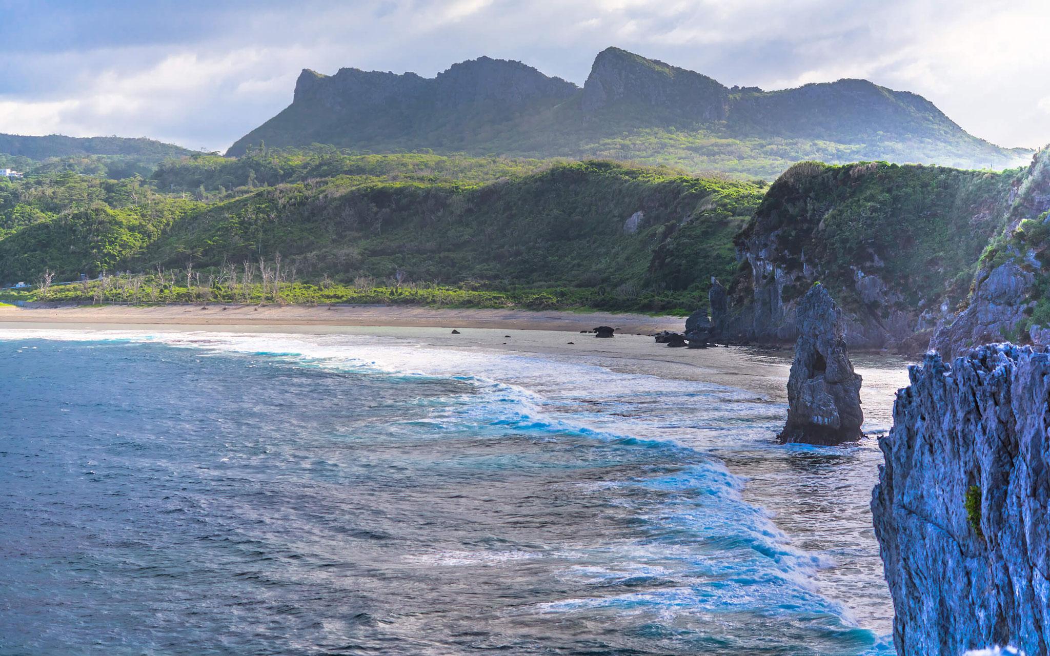 沖縄本島最北端/辺戸岬、スタート地点