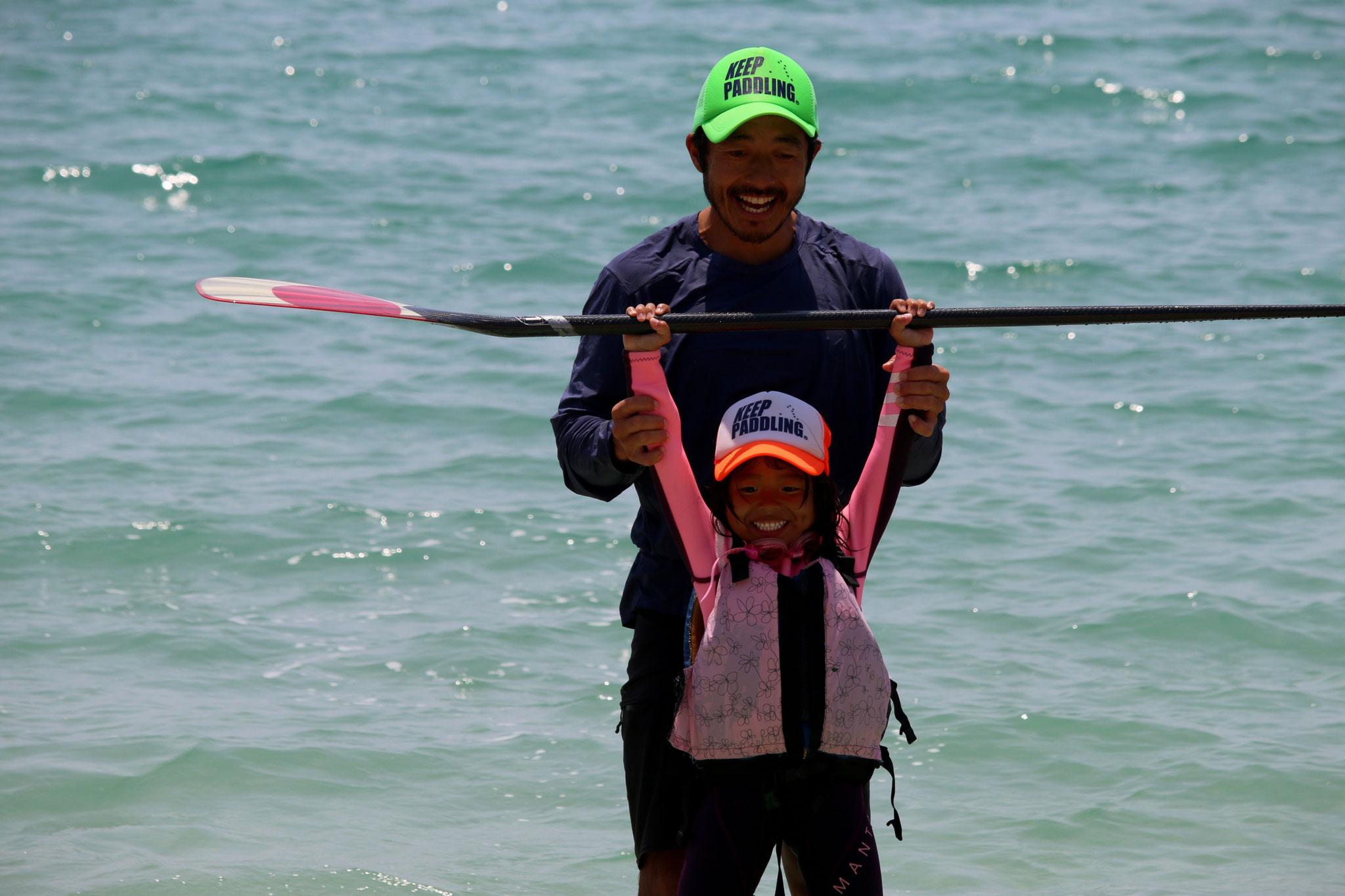 """座右の銘 """"keep paddling"""""""