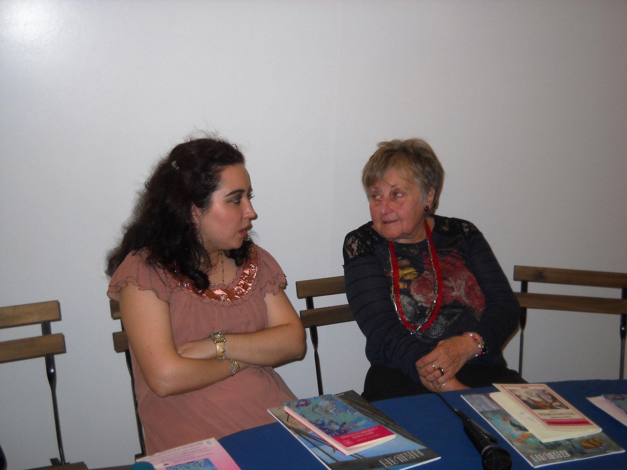 Chiacchiere a confronto  tra l'autrice e Francesca Ghiribelli
