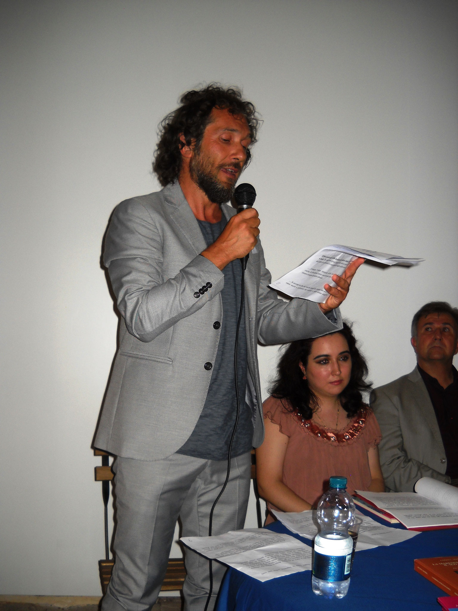 L'attore Daniele Gargano del Teatro dell'Aglio
