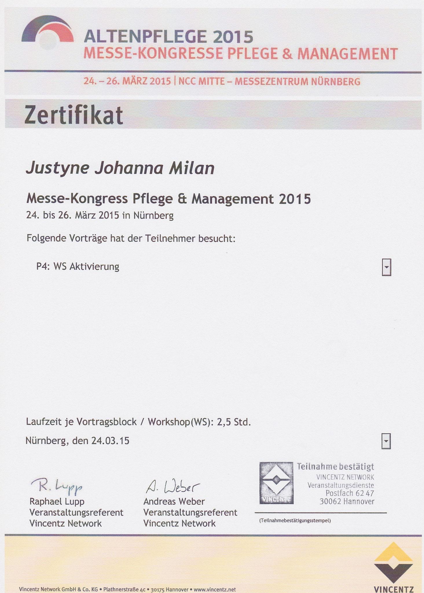"""Workshop Aktivierung: """"Mit Phantasie zur Biographie"""", Dozentin Maria Metzger"""