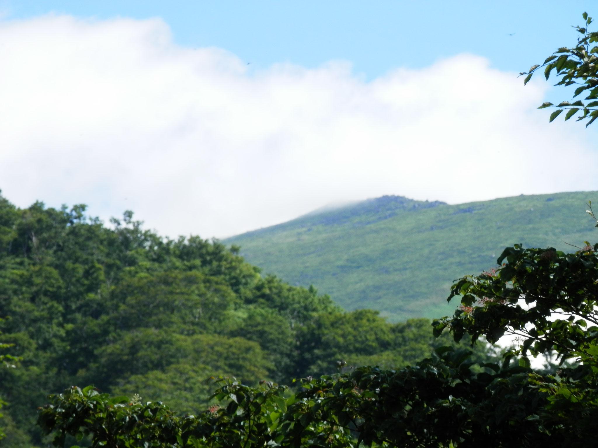 今朝の月山