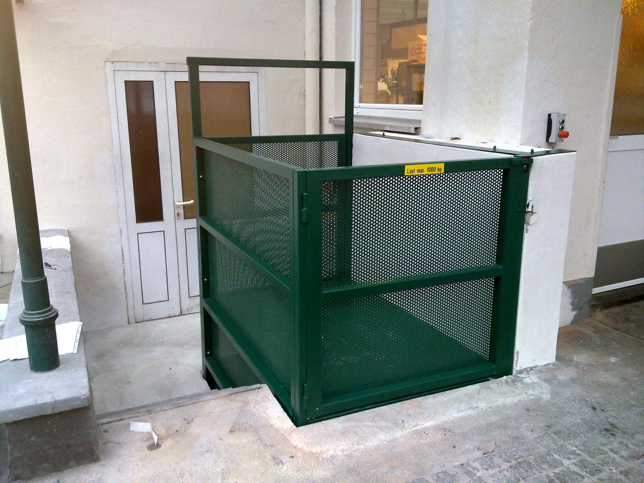 Hubanlage für Küchenanlieferung