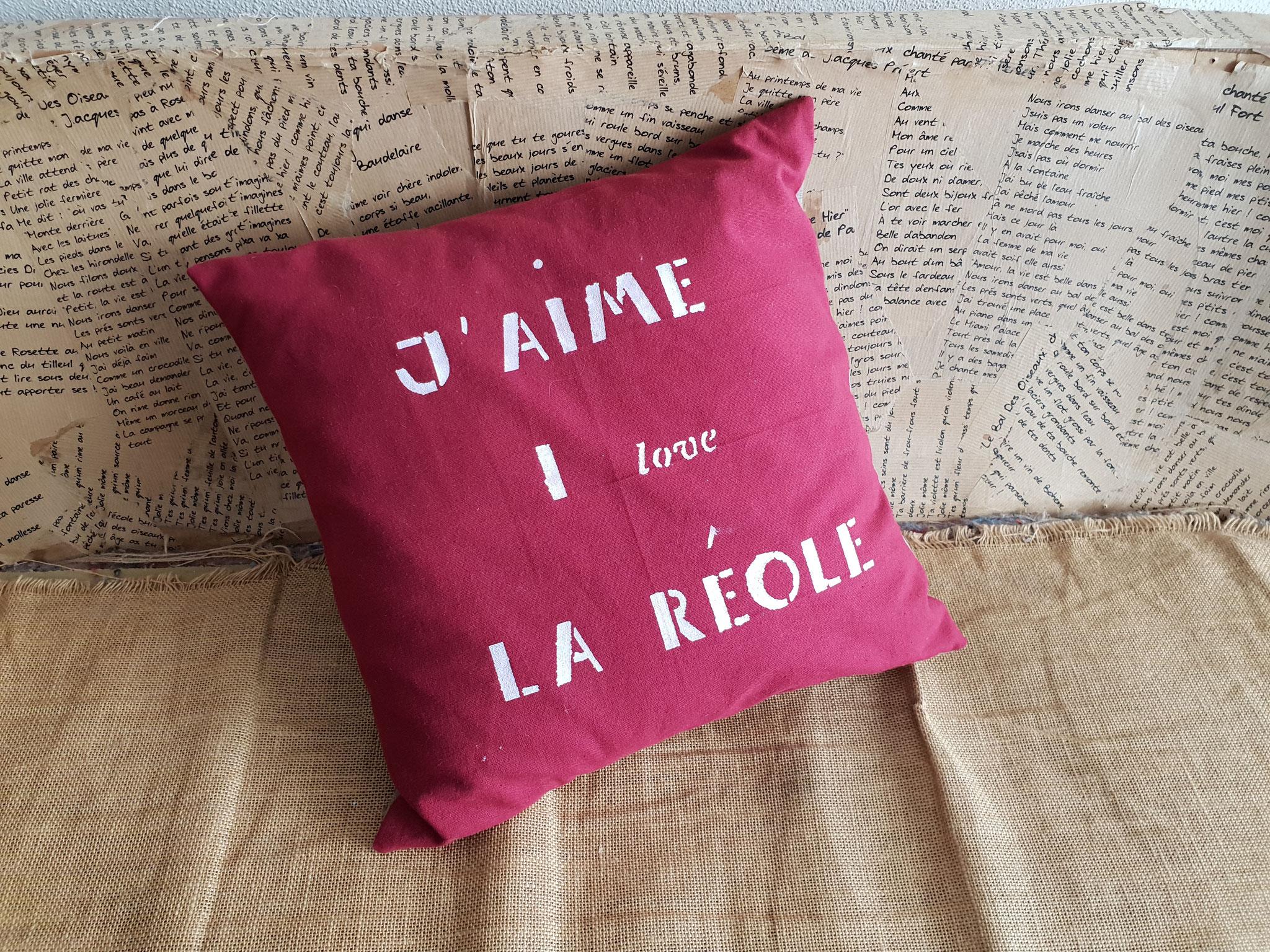 Coussin J aime La Réole