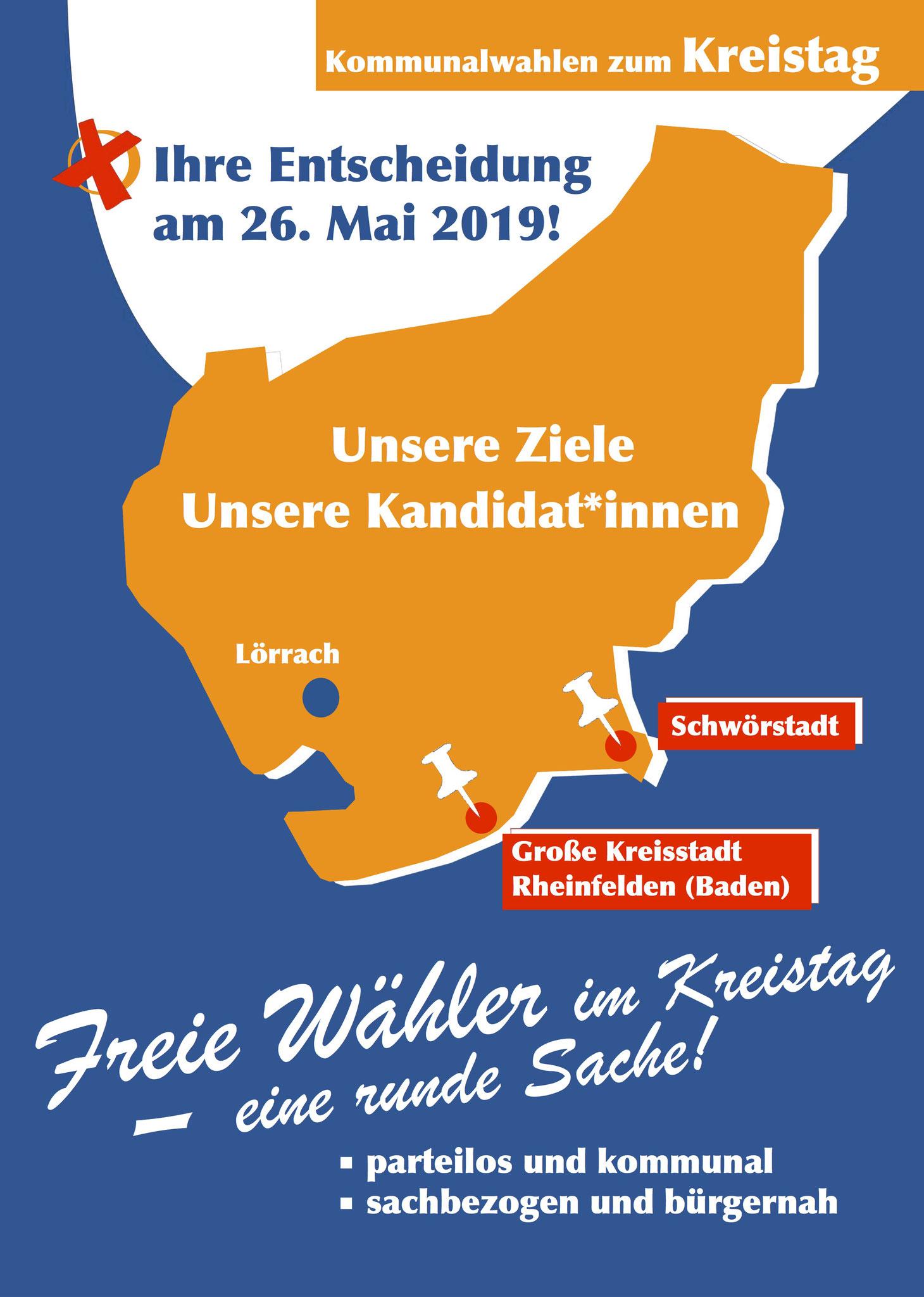 Wahlflyer Kreistag, DIN A 4, Vorderseite