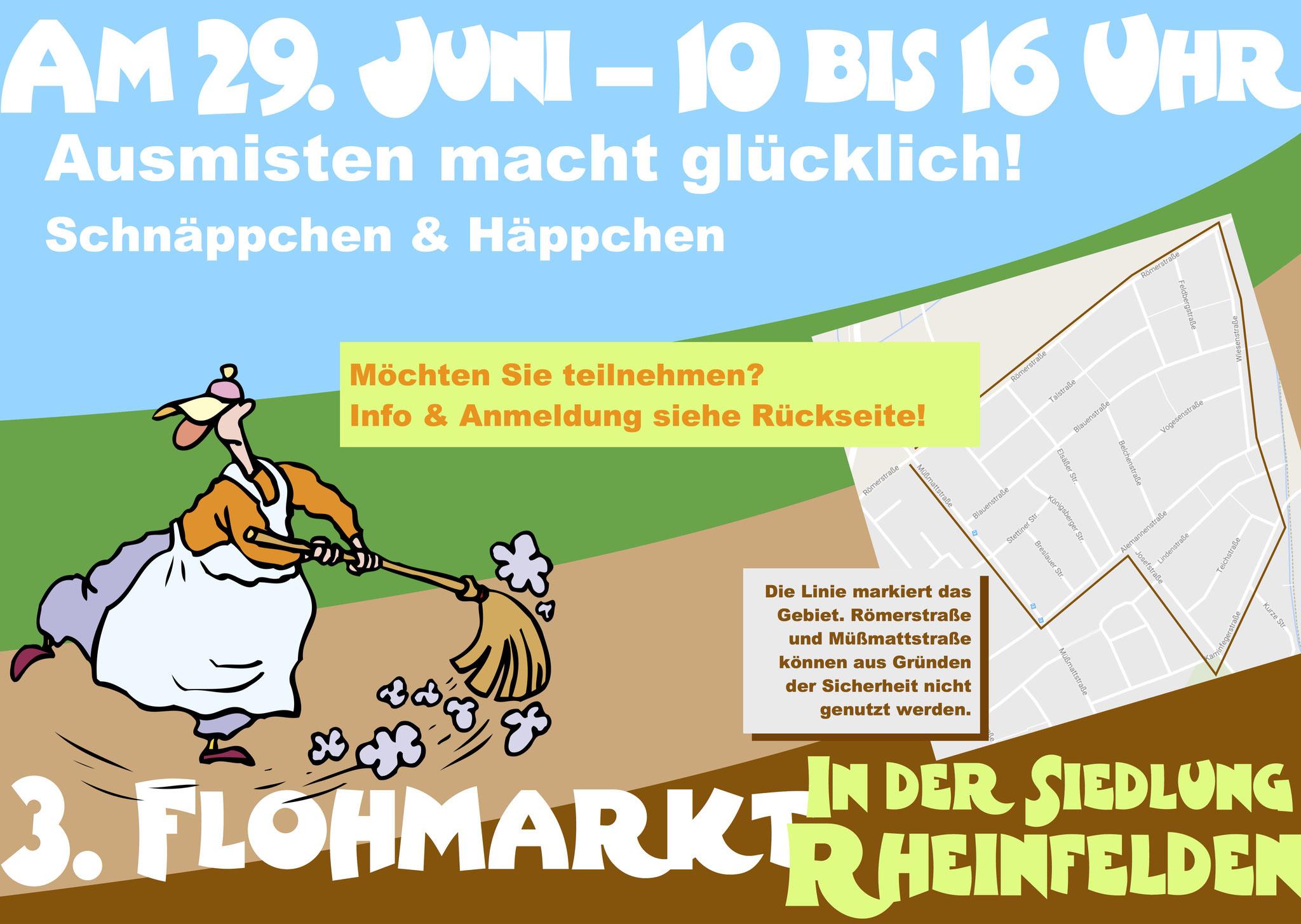 Flyer Flohmarkt in der Siedlung Rheinfelden, Siedlergemeinschaft