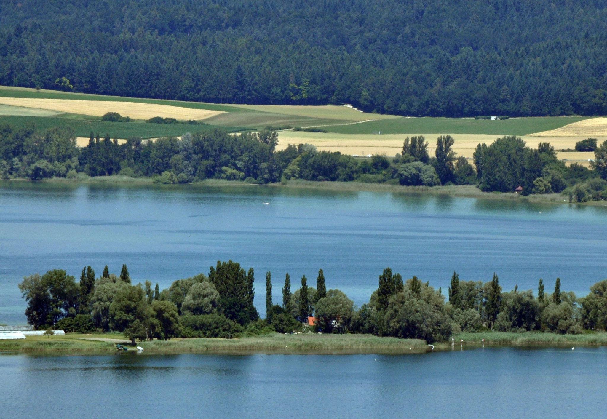 Damm auf die Insel Reichenau