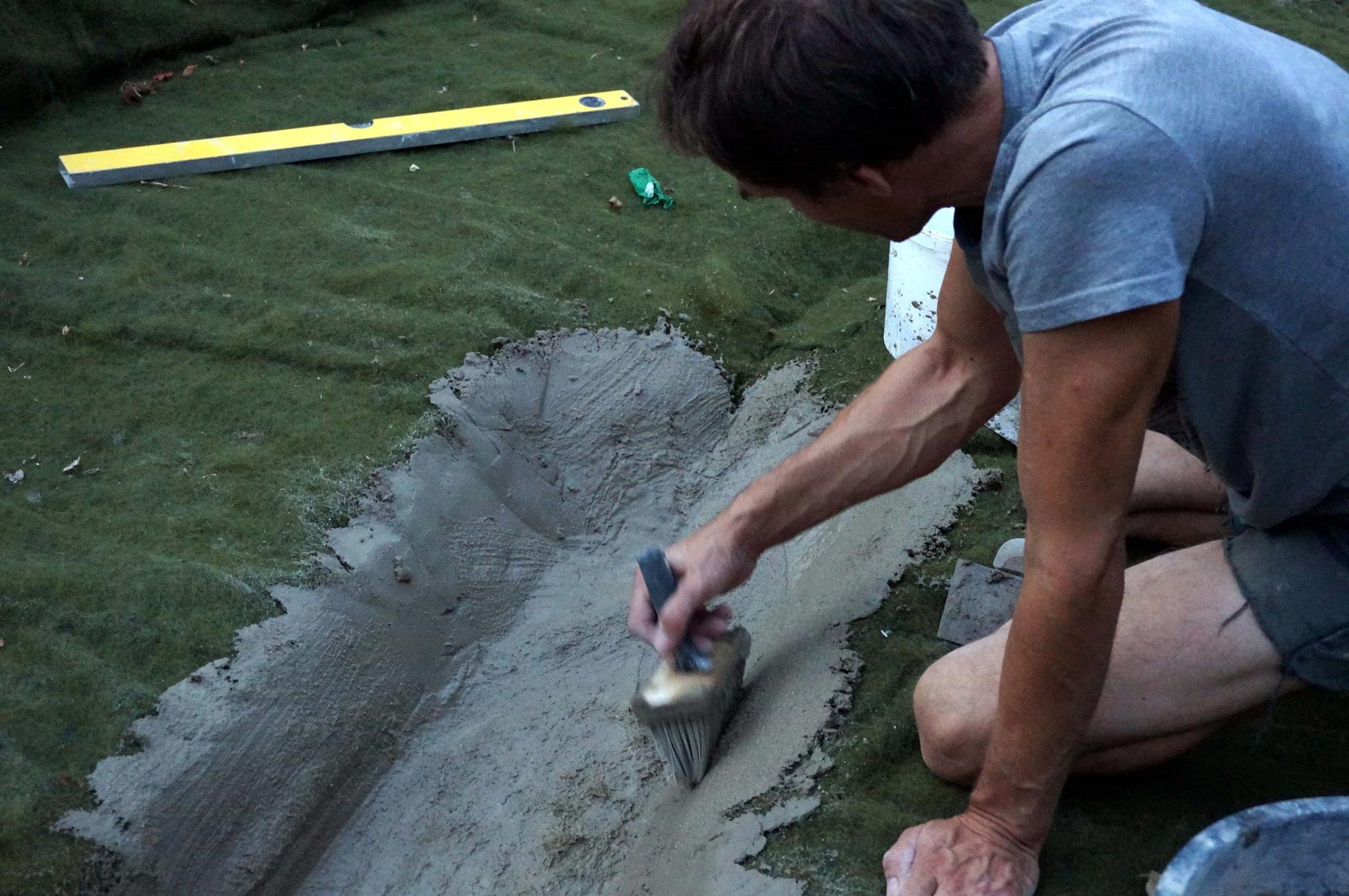 Vorbereitende Arbeit für die Sedimentfallen