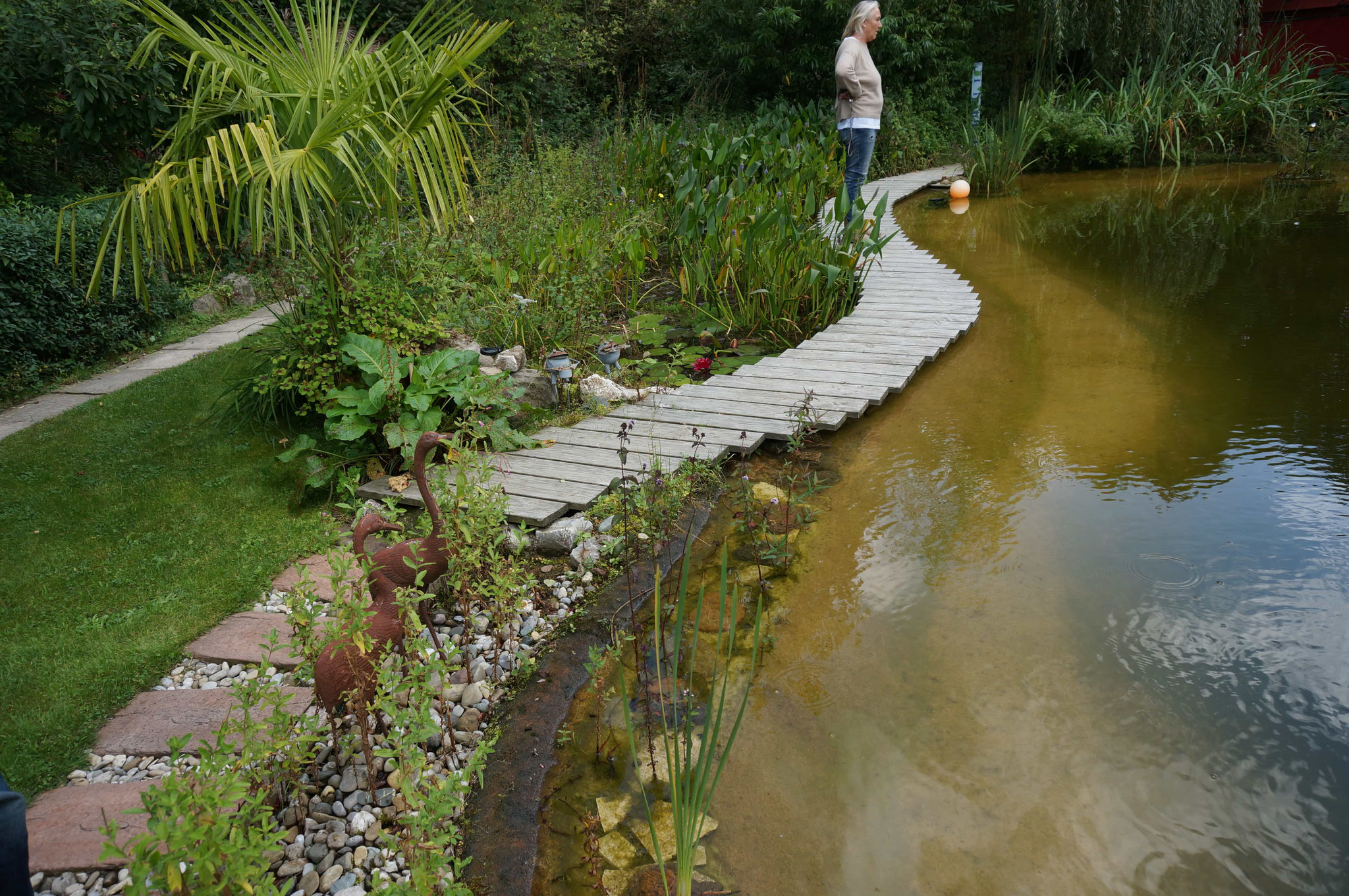 Wir sind begeistert vom naturagart System - nach 5 Jahren sieht der Schwimmteich toll aus!