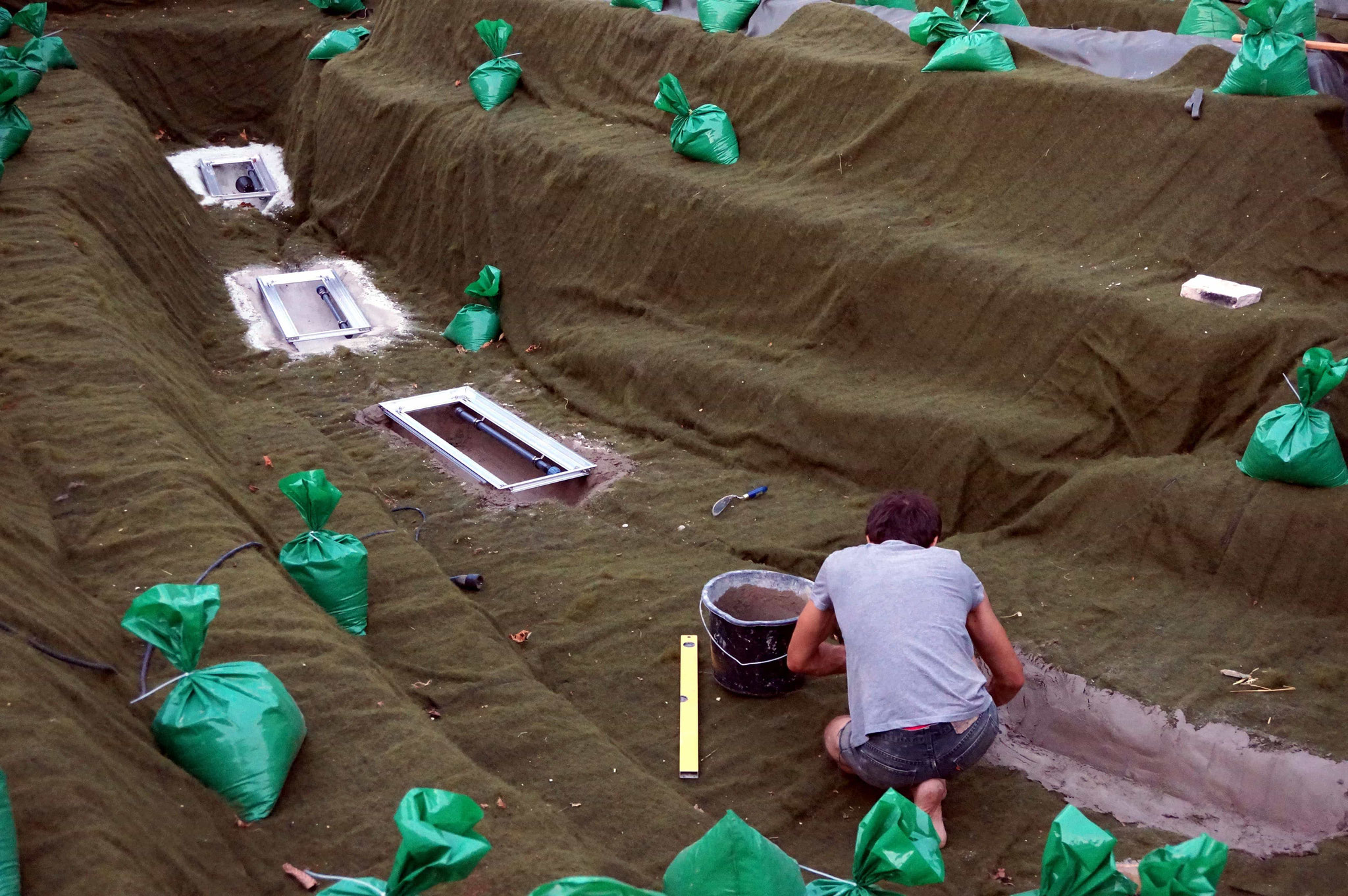 Einsetzen der Sedimentfallen