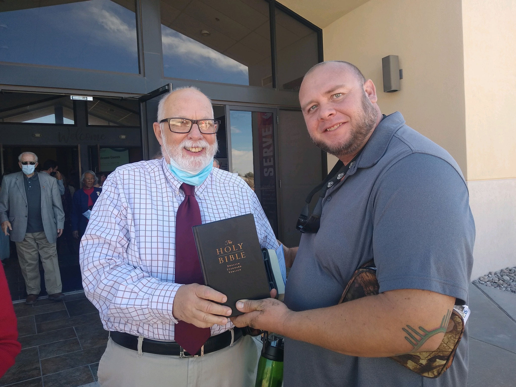David Nohe is a Gideon. He has provided us with complete and New Testament ESV Bibles.