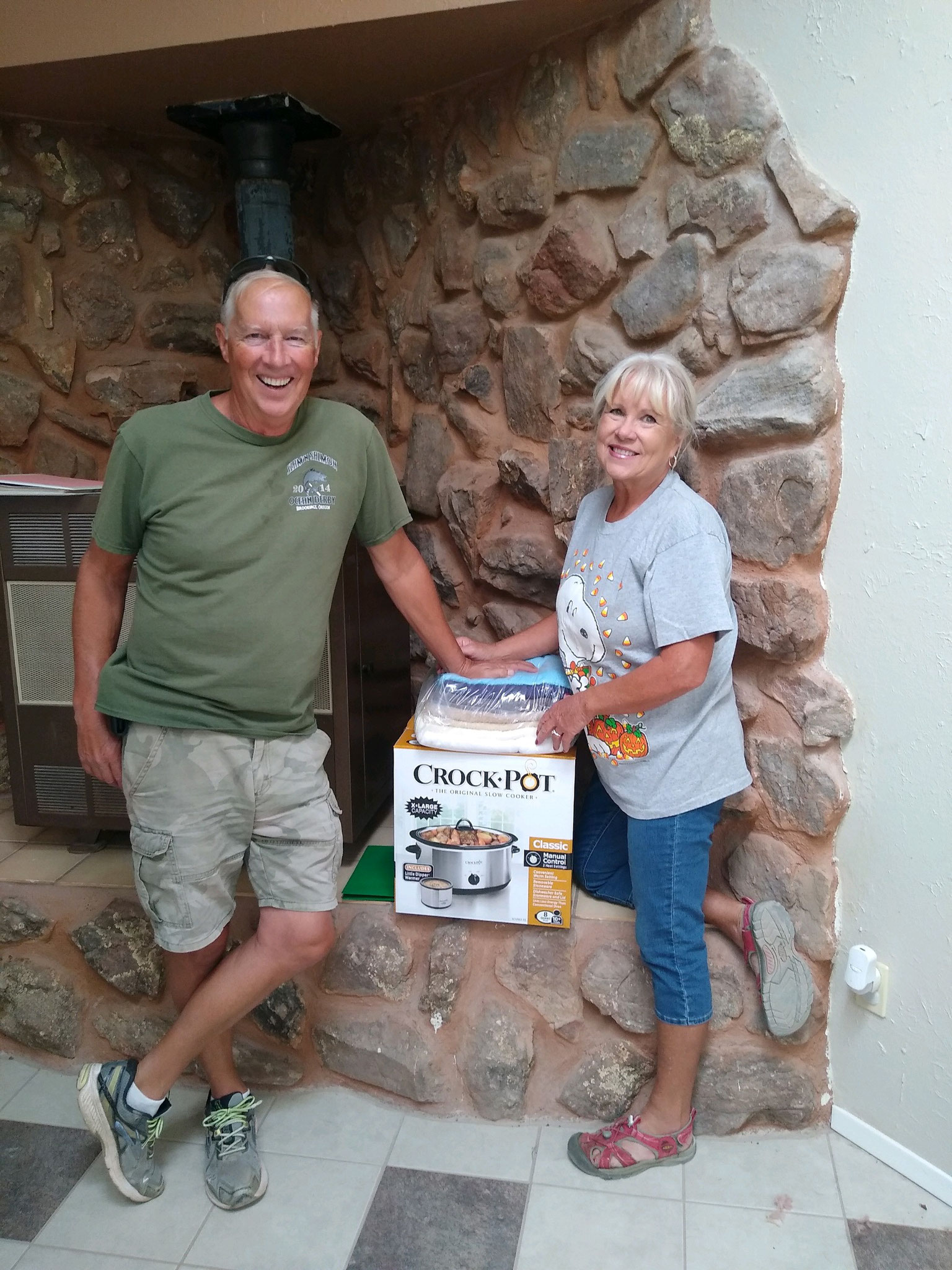 David and Judy Cass donated new Crock-pots, a griddle, and towels. They also landscaped (at their own expense) in front of Ward Cottage.