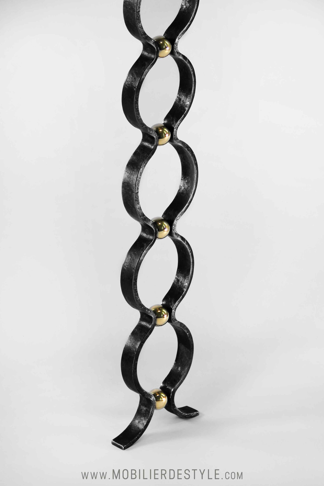 Finition 4 : Black painted wrought iron