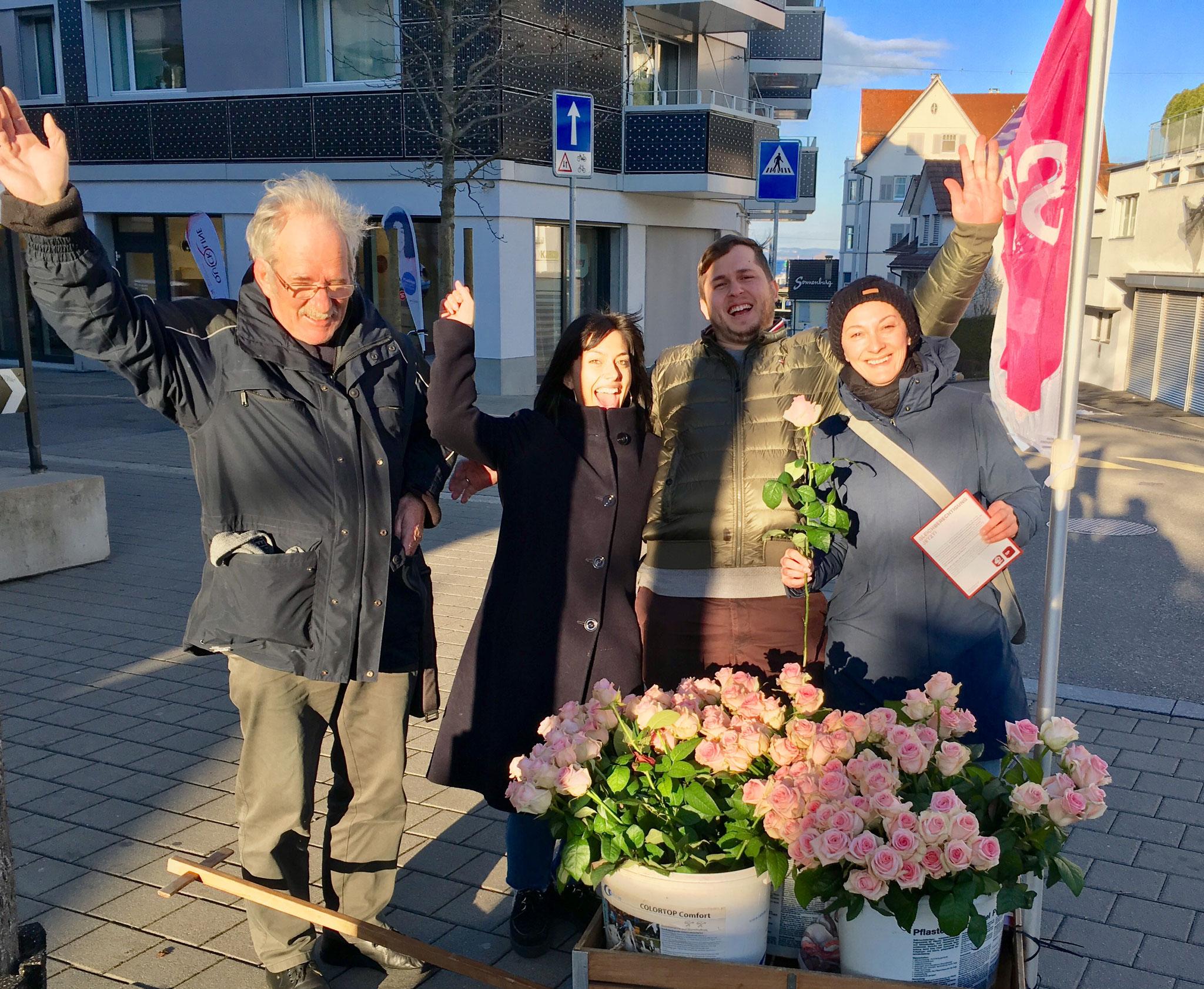 Frauentag, 8. März 2020 - Gleichstellung jetzt - SP Romanshorn unterwegs
