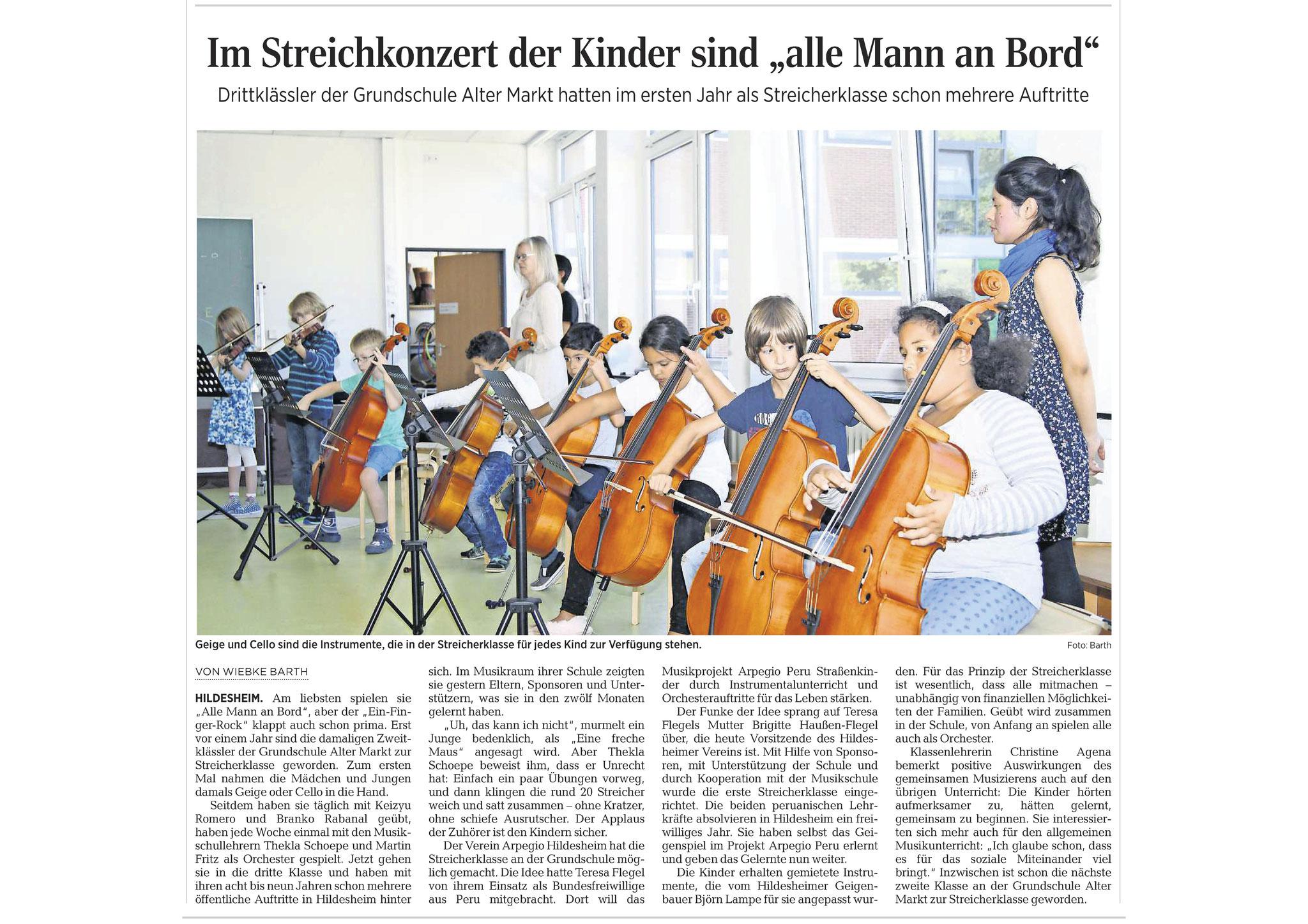 07.09.2016 Quelle: Hildesheimer Allgemeine Zeitung
