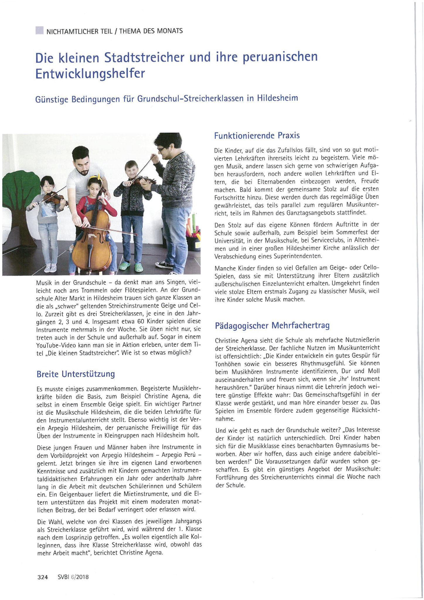Schulverwaltungsblatt für Niedersachsen, Heft 6/2018, S. 324