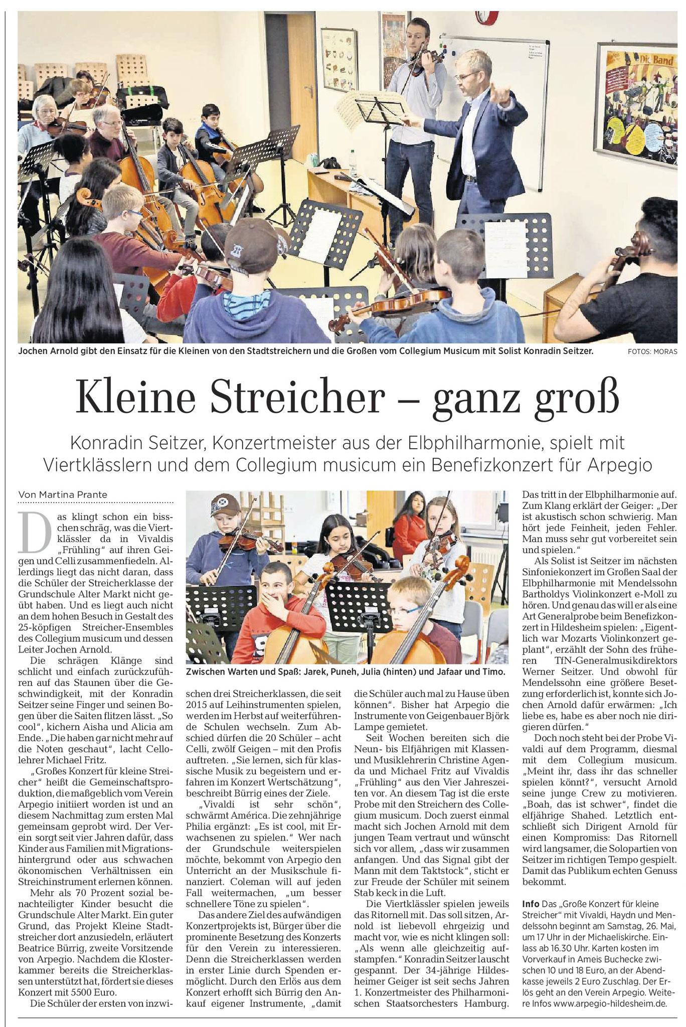 21.04.2018 HILDESHEIMER ALLGEMEINE ZEITUNG