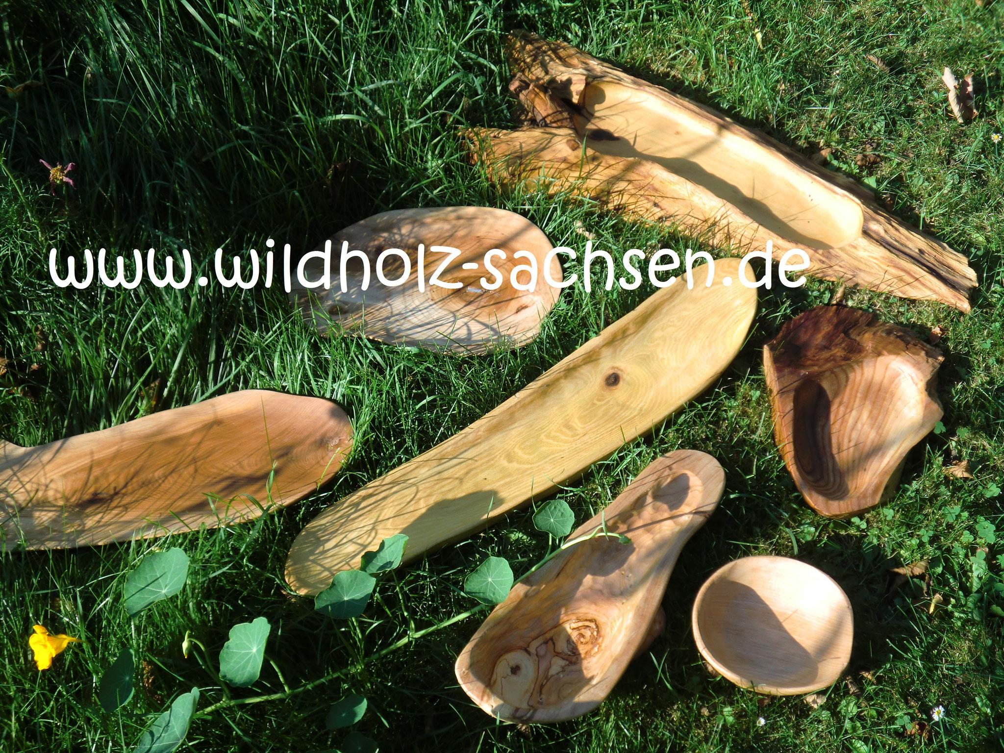 verschiedene Holzschalen