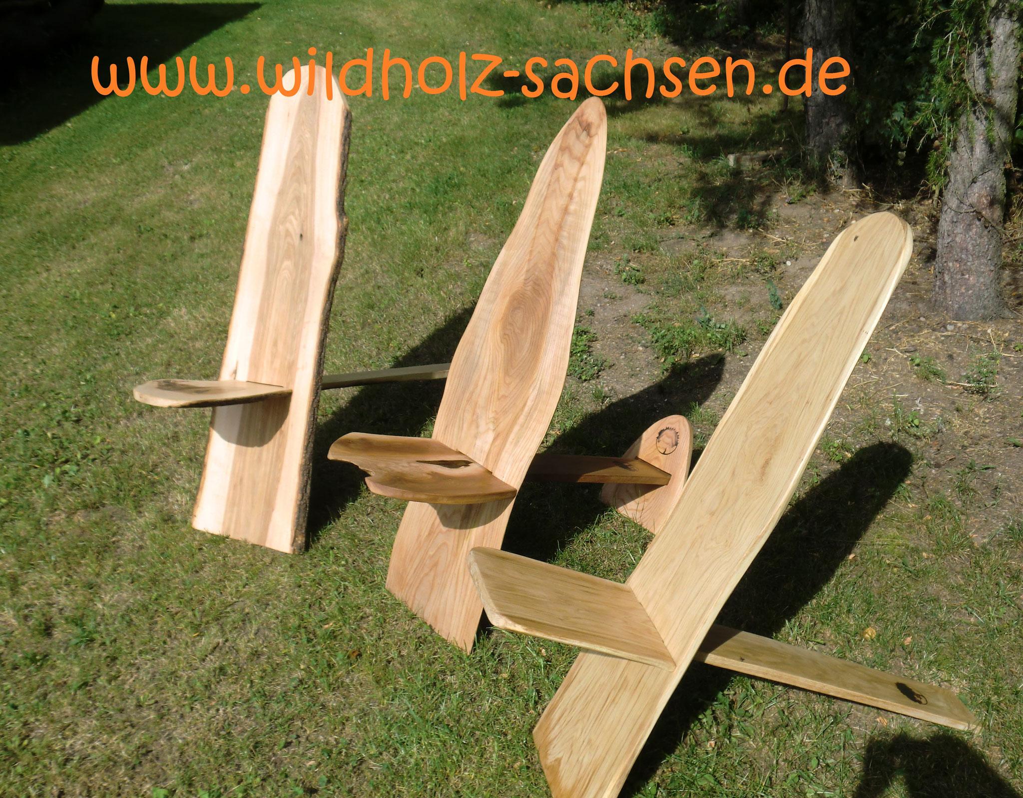 Wikinger Stühle oder auch one board chair aus Eiche, Ulme, Esche